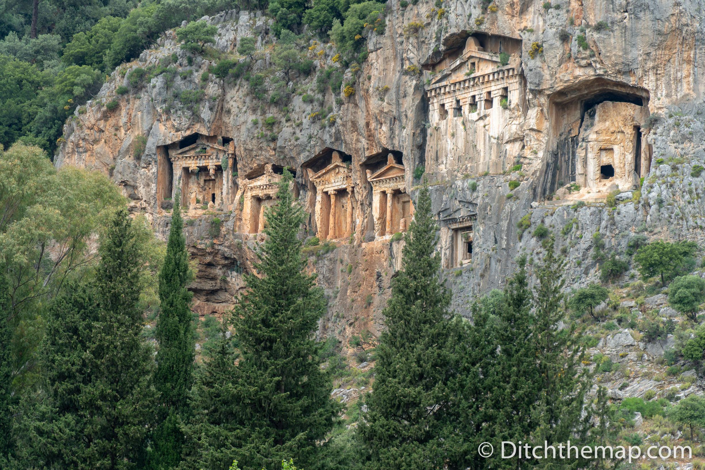 Caunos Tombs of the Kings in Dalyan, Turkey
