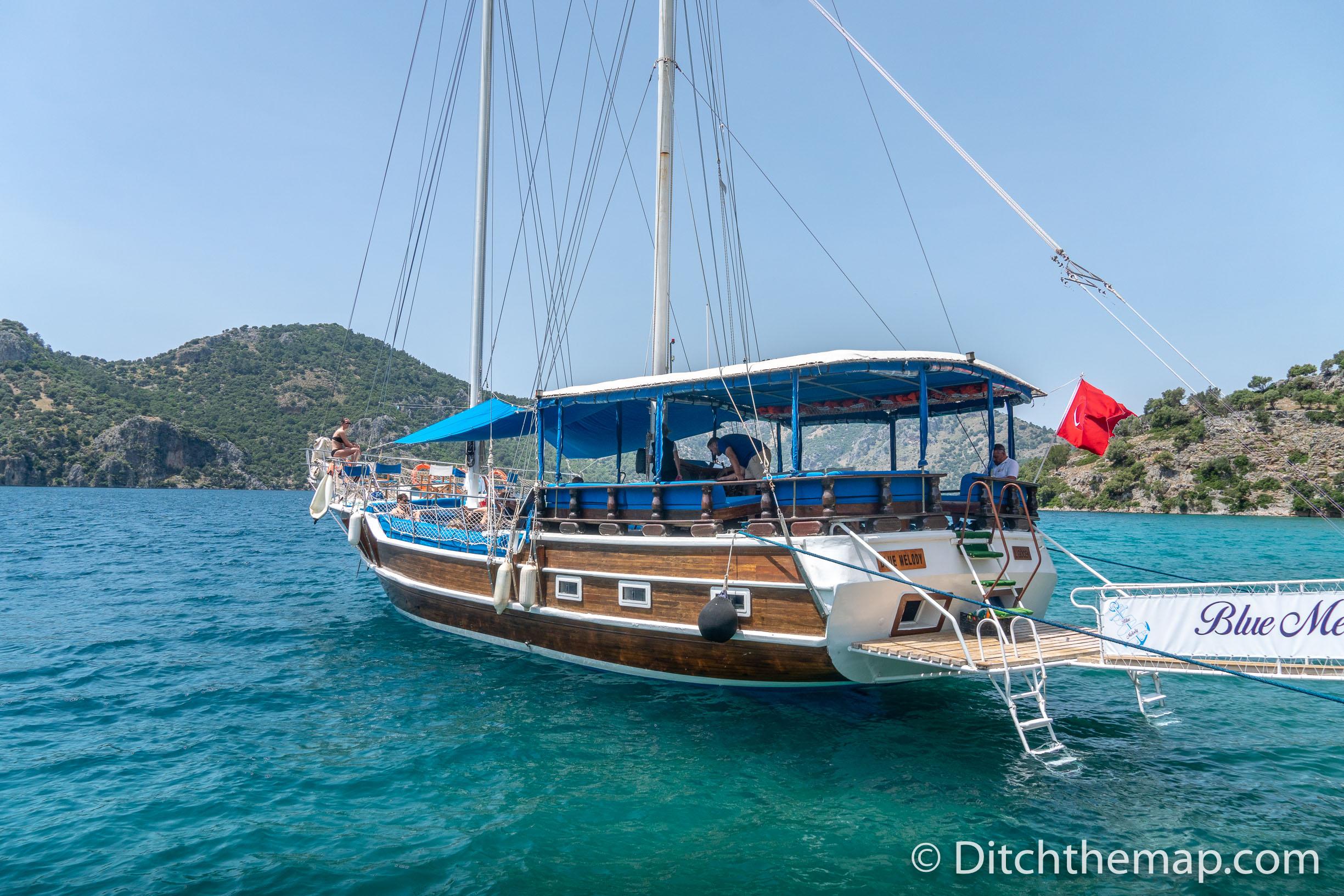 Boat Trip on the Gulf of Göcek, Dalyan, Turkey with   Volkan's Adventures