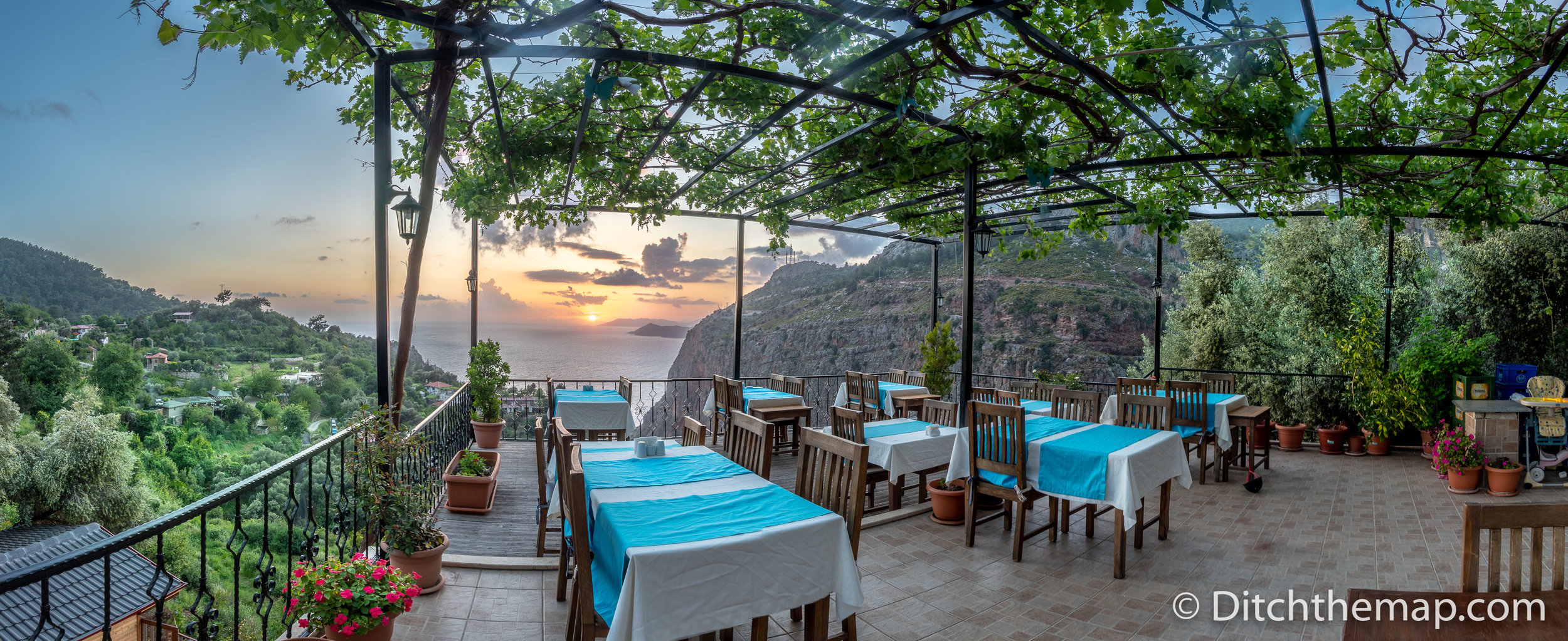 Home-cooked Breakfast and Dinner Served Daily on the Balcony at  Keyif Faralya