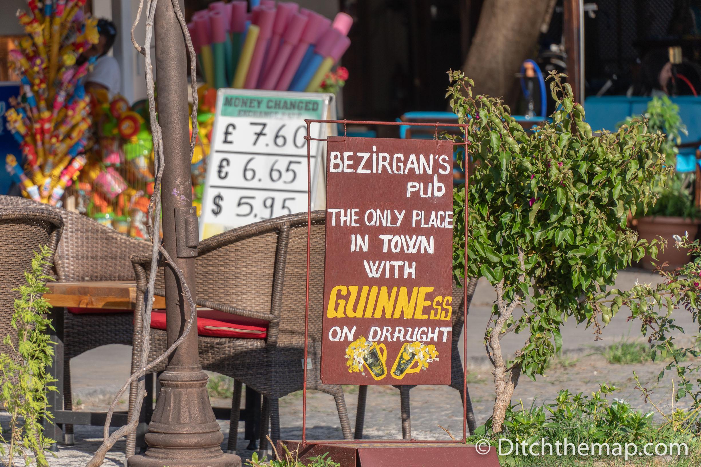 Guinness on Draft in Kalkan, Turkey