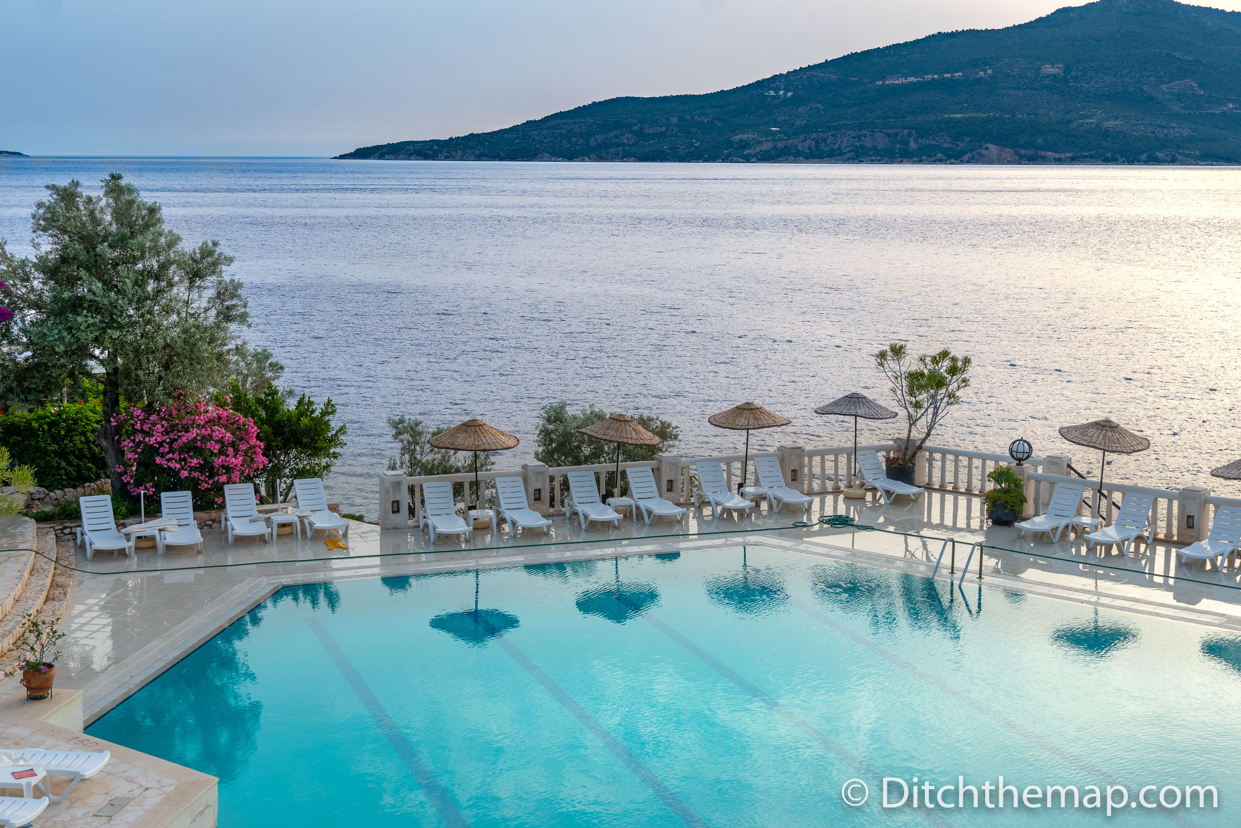 Pool at Our Resort in Kalkan, Turkey