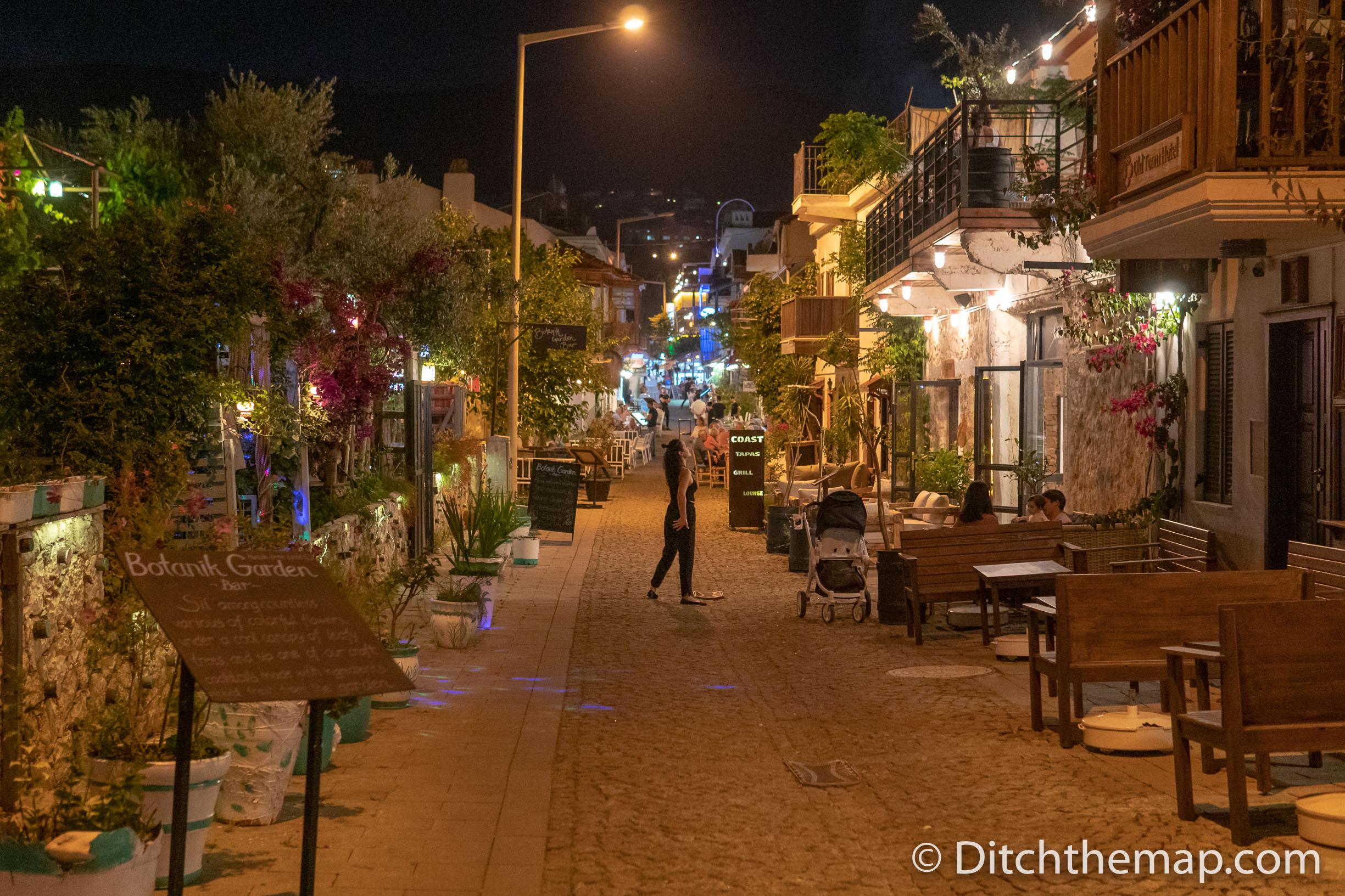 Pedestrian Street in Kalkan, Turkey
