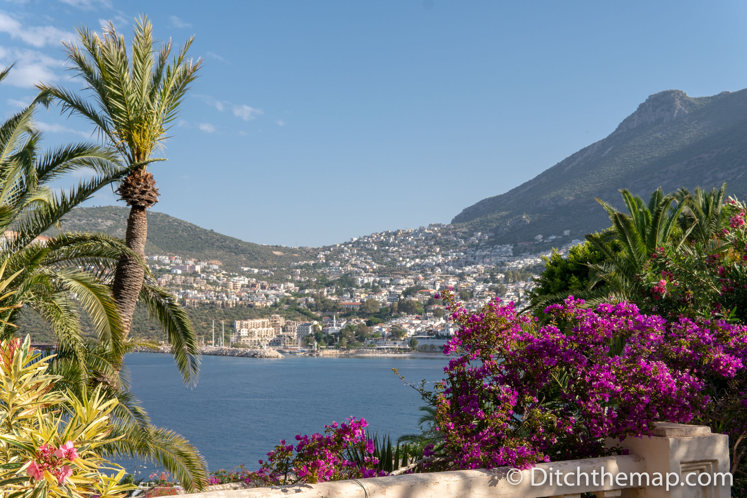 A View of Kalkan, Turkey From Across the Bay