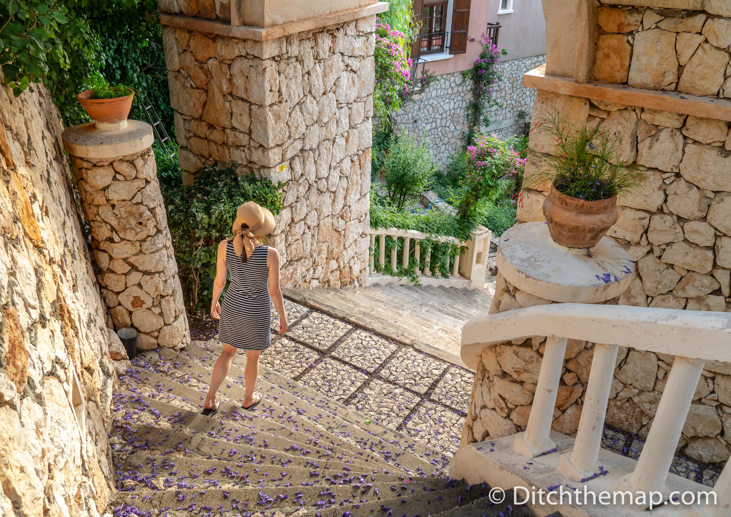 Strolling the Grounds of our Resort in Kalkan, Turkey