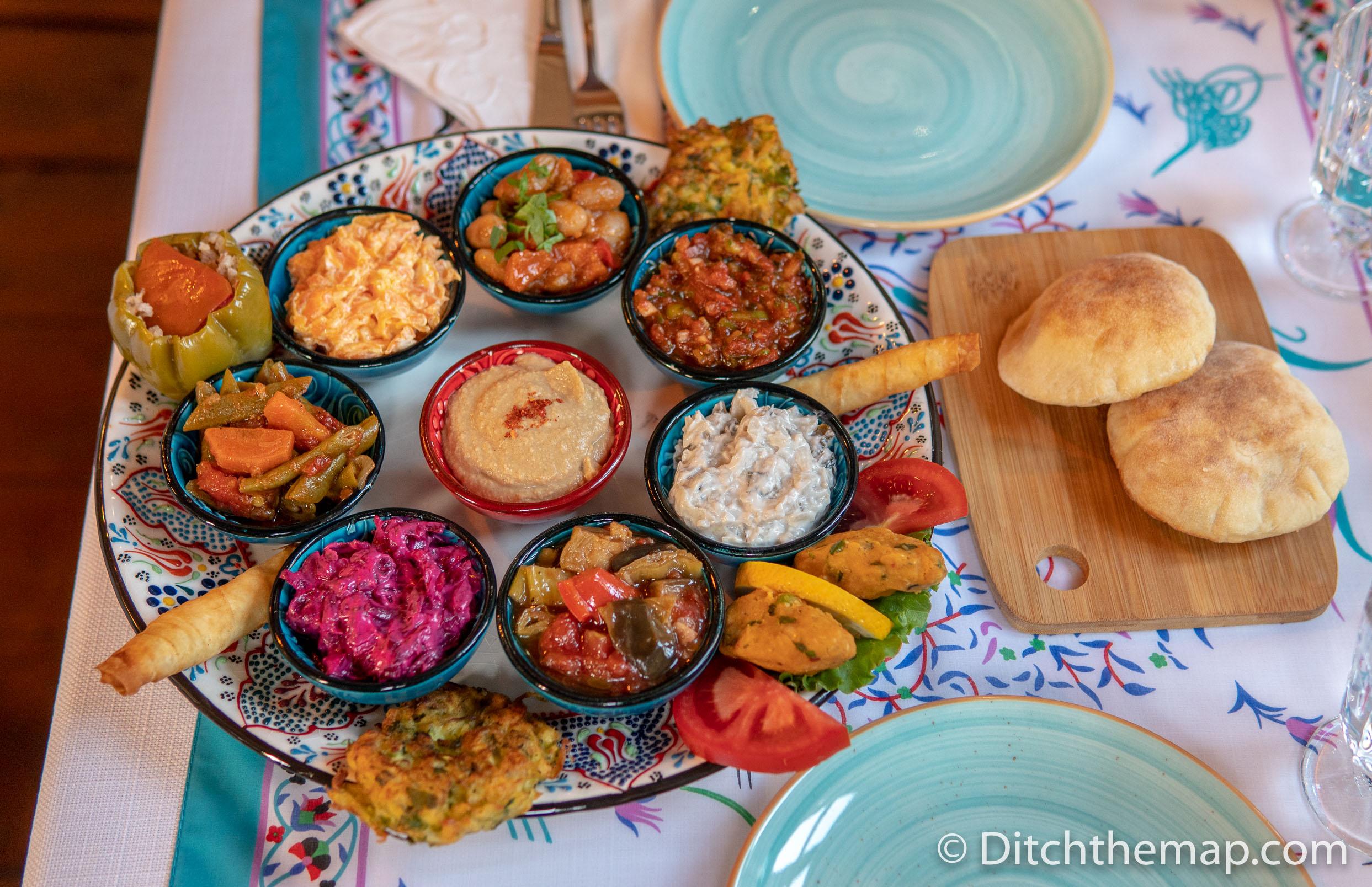 Mezze Plate in Kalkan, Turkey