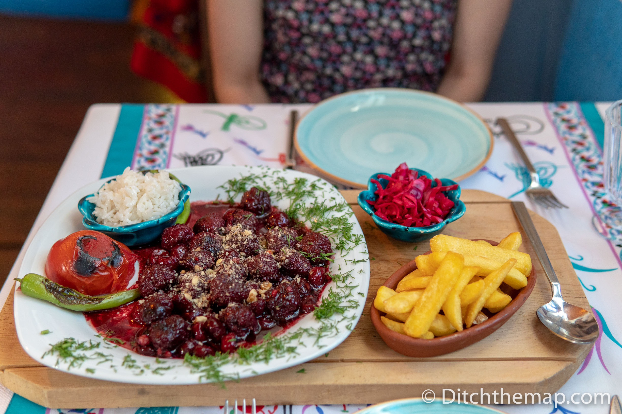 Dinner in Kalkan, Turkey