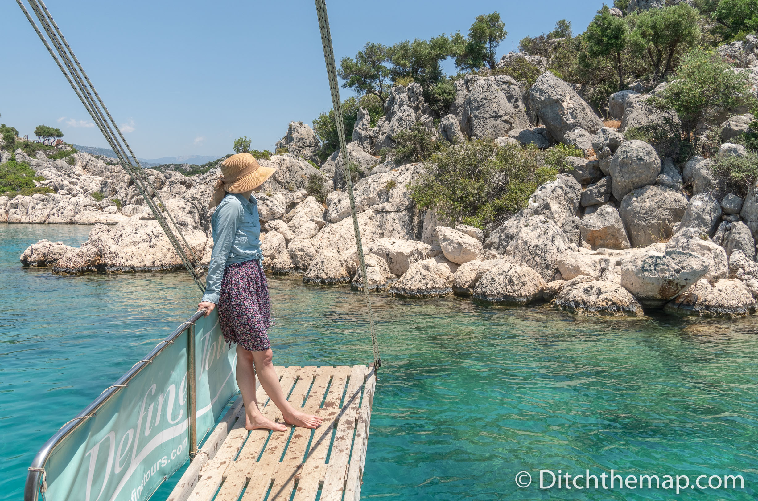 Viewing the Clear Turquoise waters on the Boat Tour