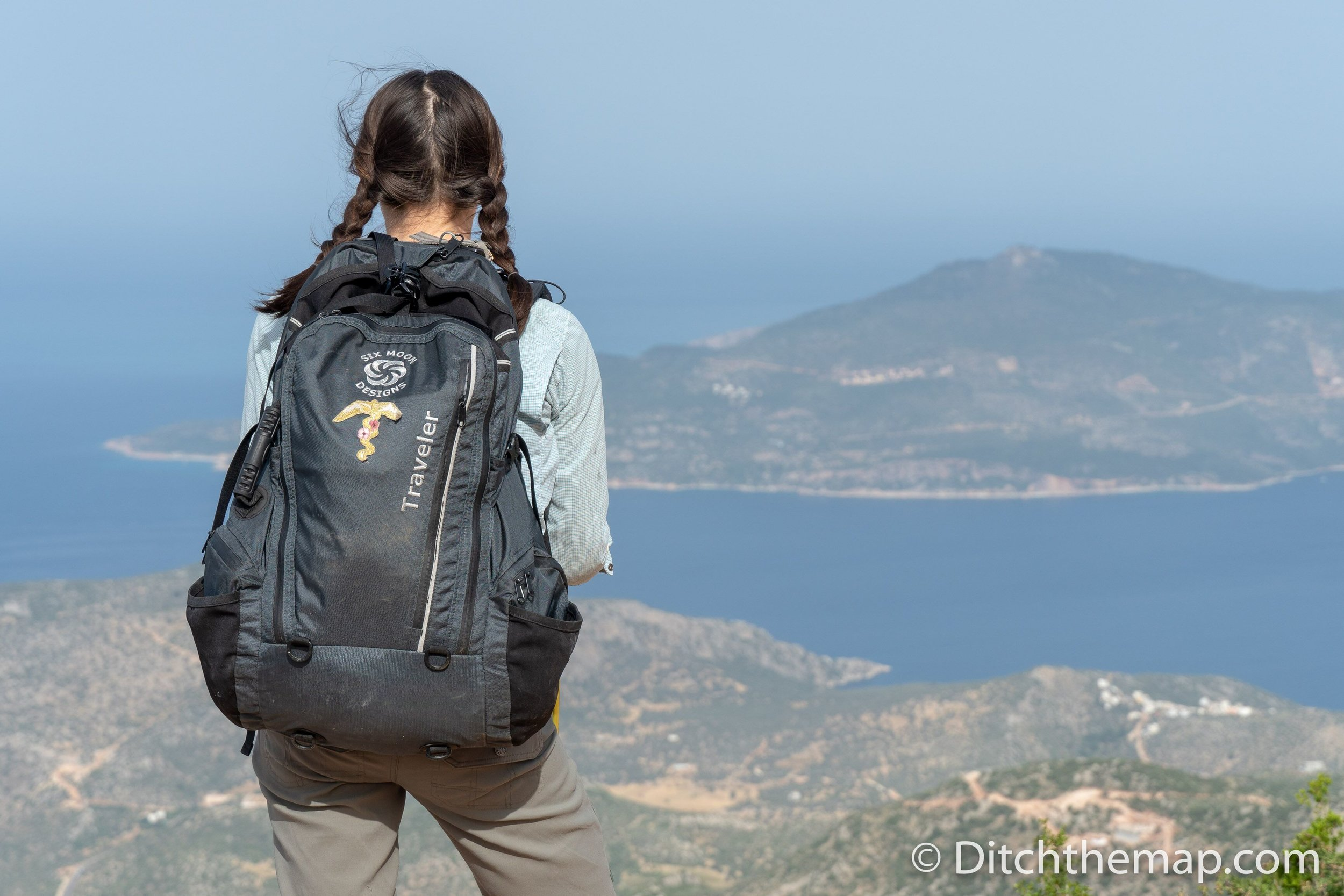 Overlooking the Mediterranean Sea while hiking the Lycian Way