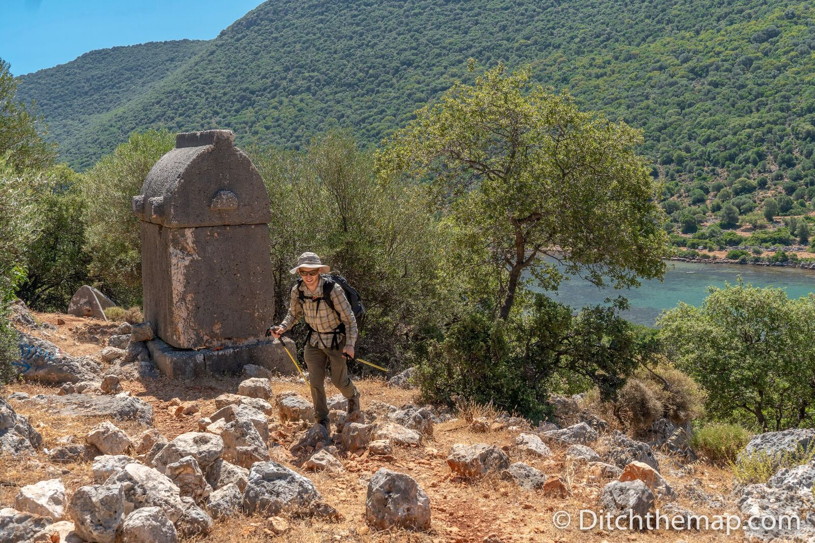 Lycian rock tombs on the trail