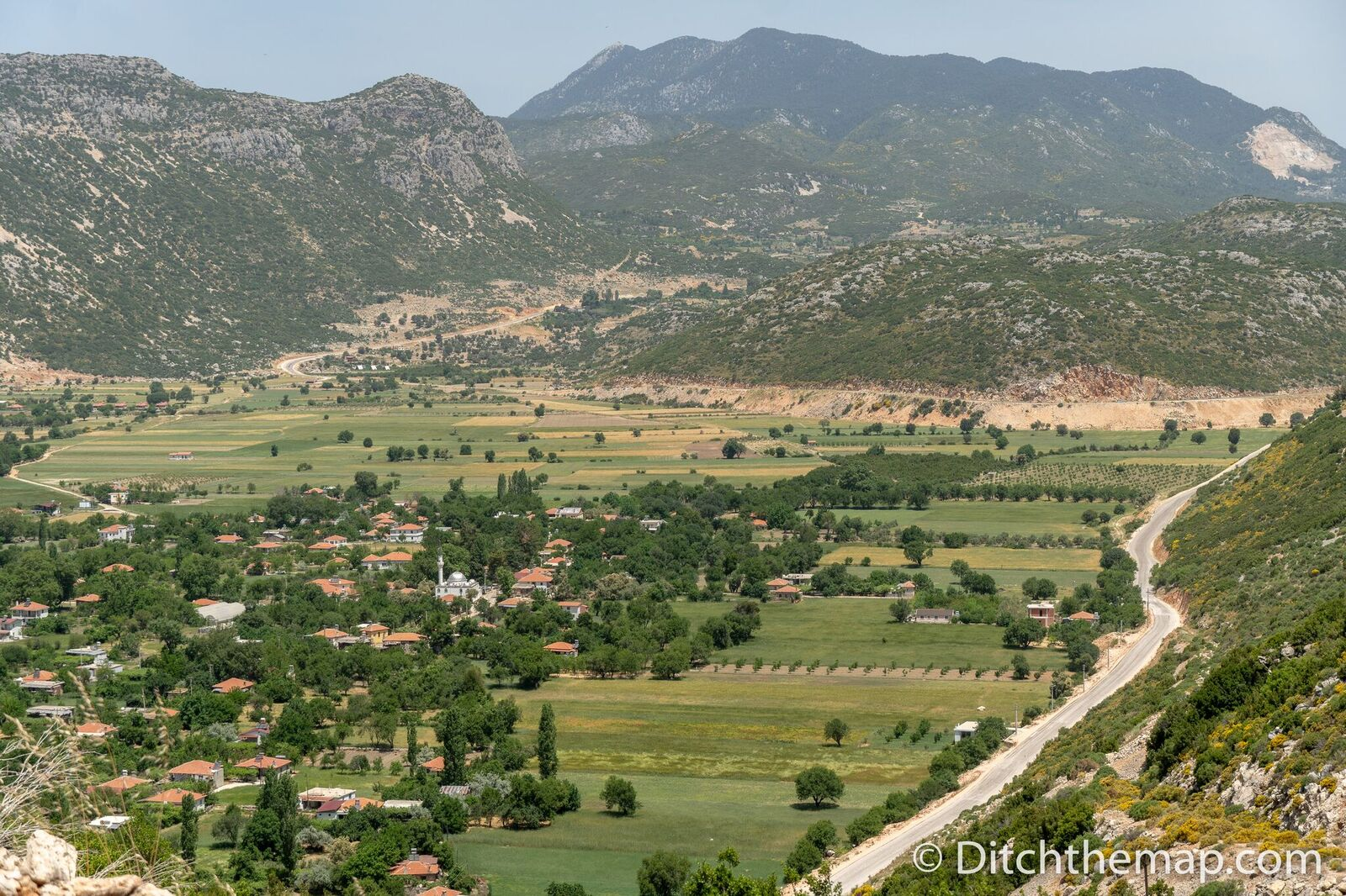 A view of the village of Bezirgan from the Lycian Way