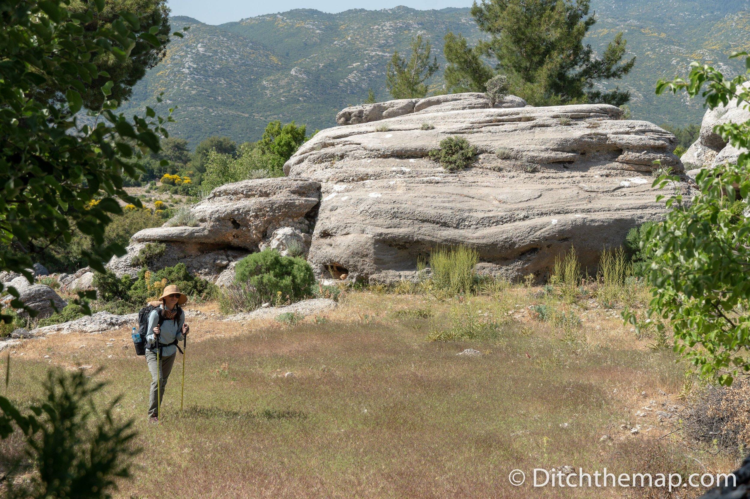 Windswept rocks on the Lycian Way between Saribelen and Gokceoren