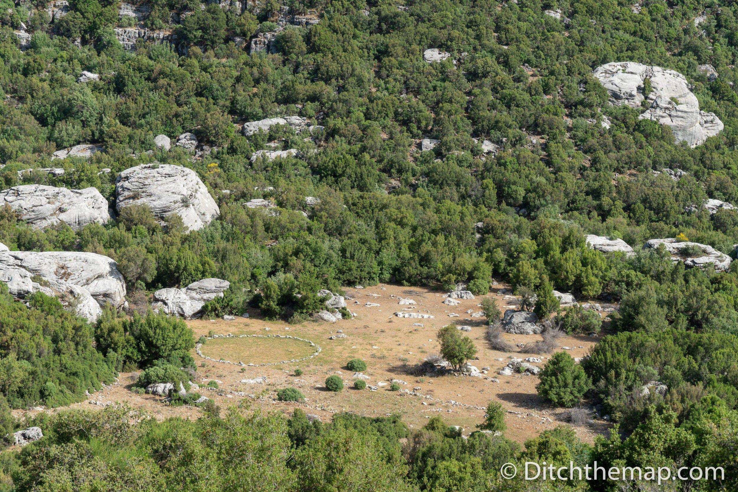 An inviting grassy clearing on the Lycian Way between Saribelen and Gökçeören