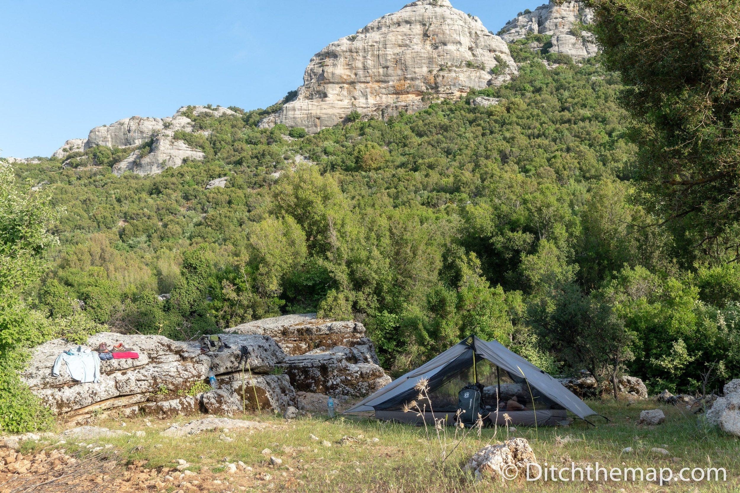 Our camping spot between the villages of Saribelen and Gökçeören