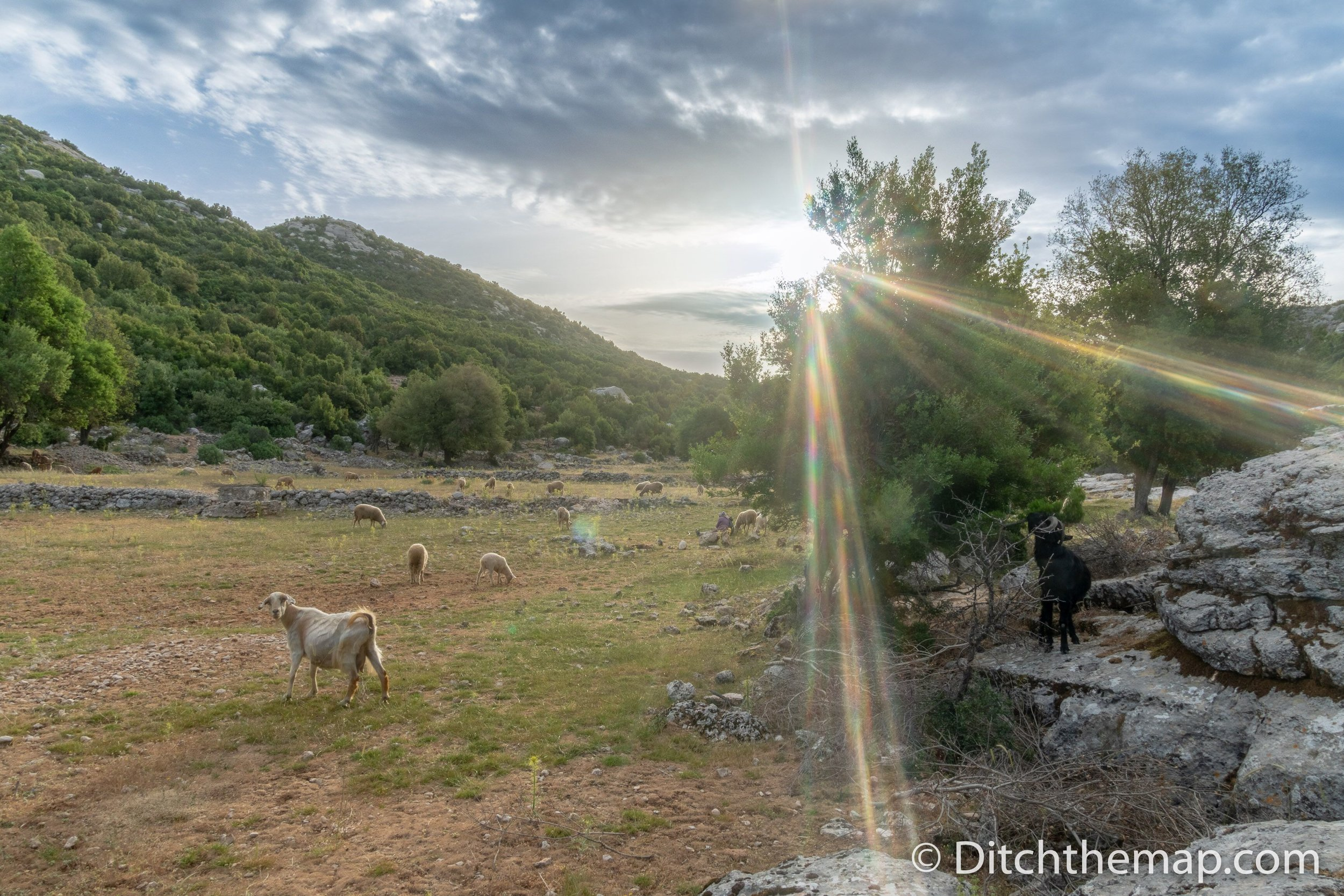 Our morning view on the Lycian Way