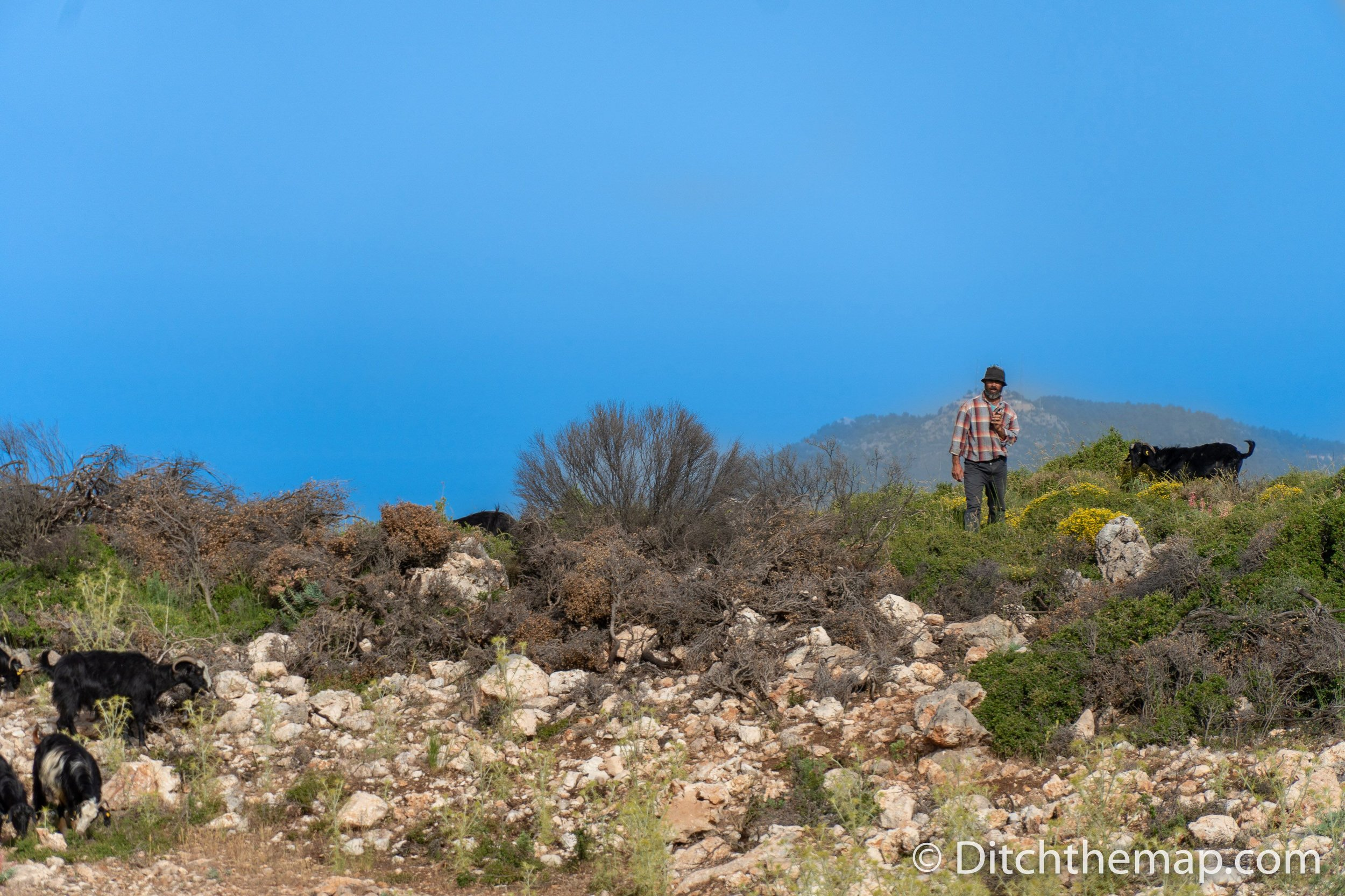 A friendly goat herder on the Lycian Way