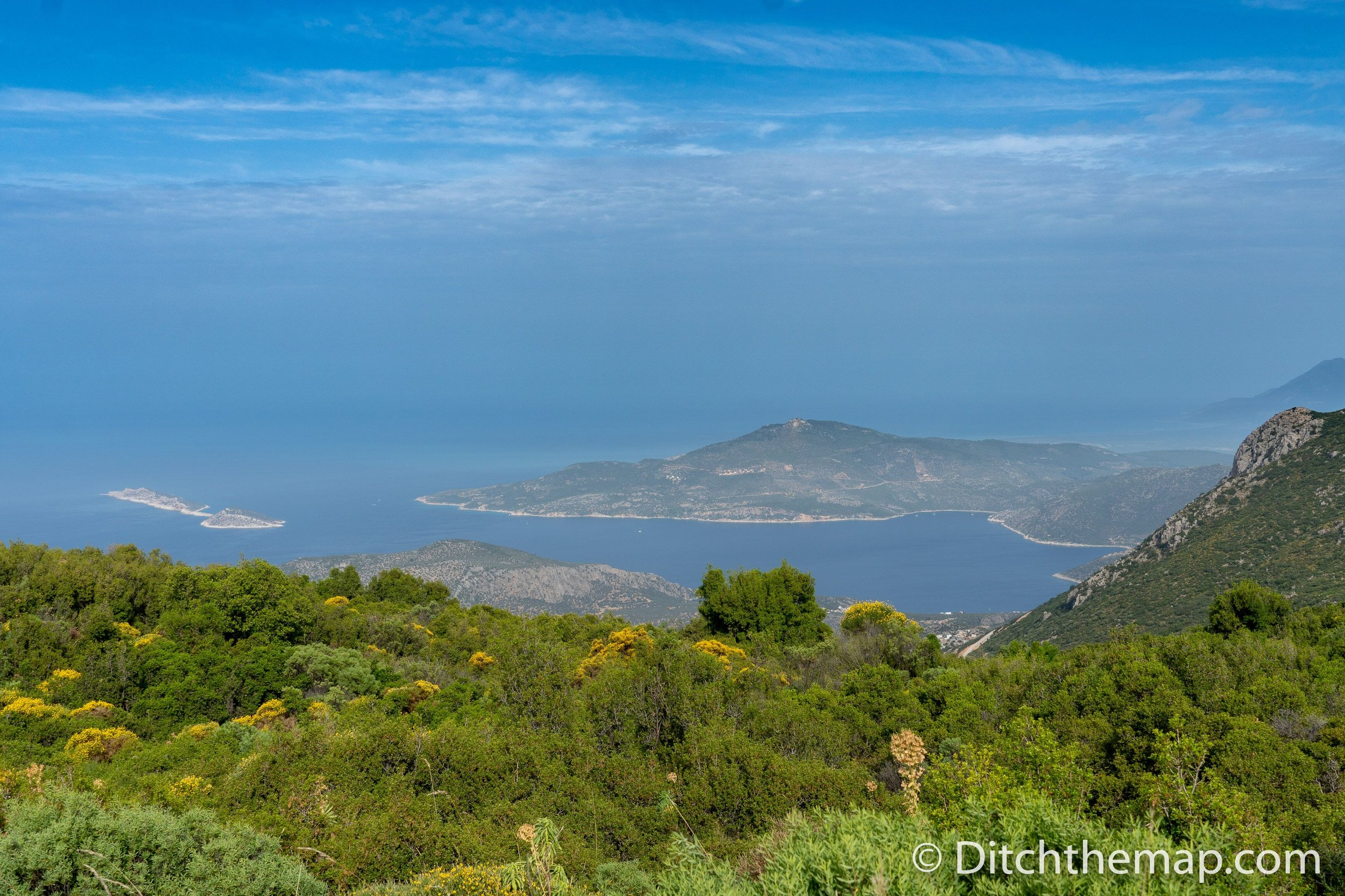 A view of the Mediterranean Sea from the Lycian Way