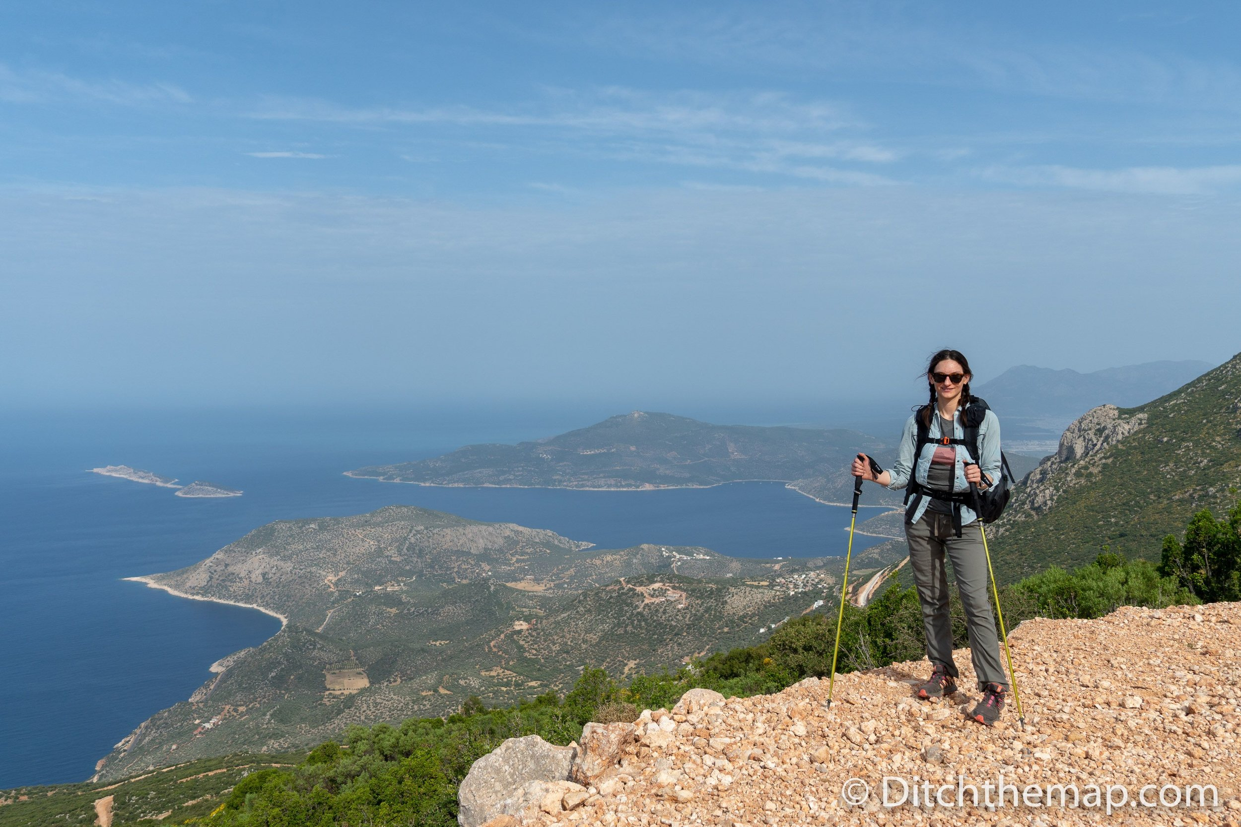 Taking in the views on the Lycian Way
