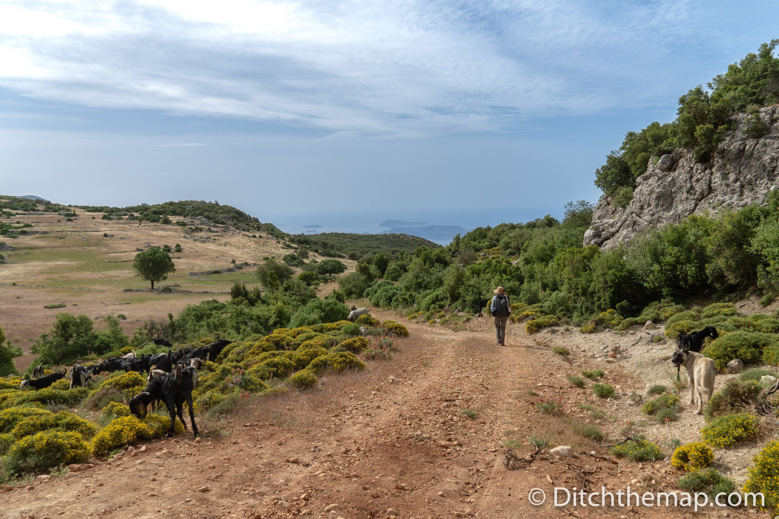 The trail on the Lycian Way