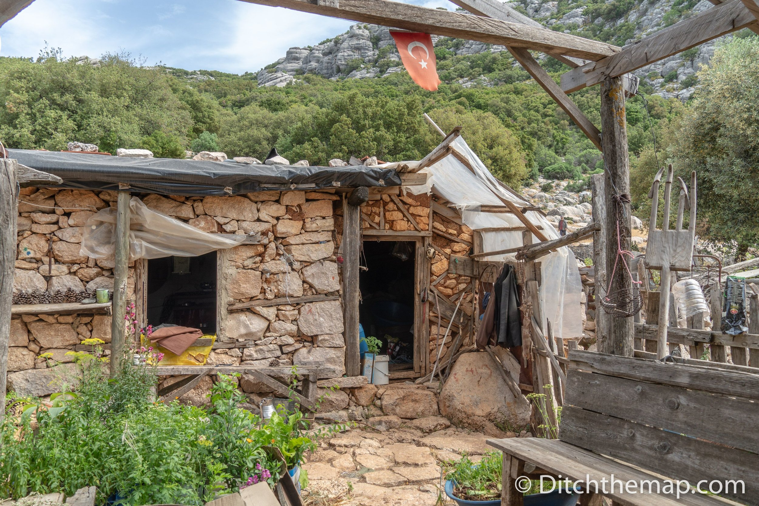 A villager's home on the Lycian Way