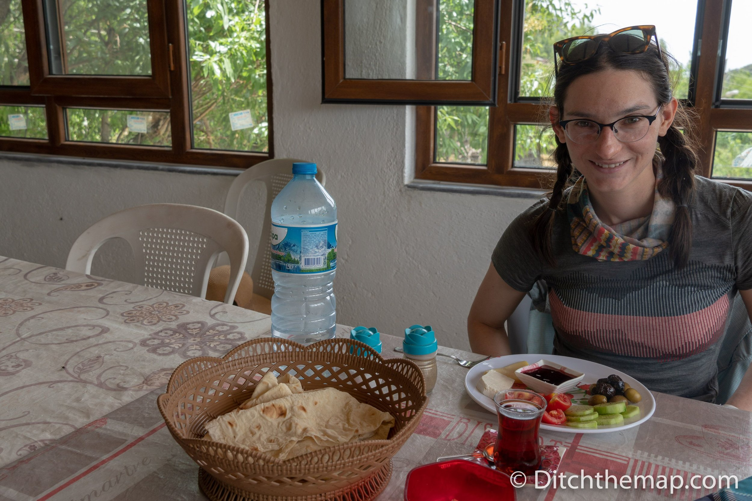 Served lunch on the Lycian Way