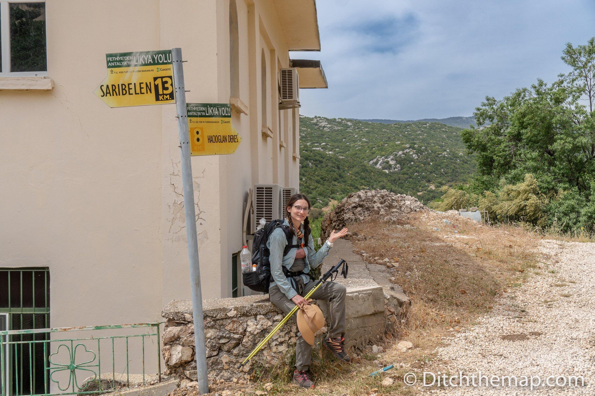 Leaving Gökçeören and continuing toward Hacıoğlan Deresi on the Lycian Way