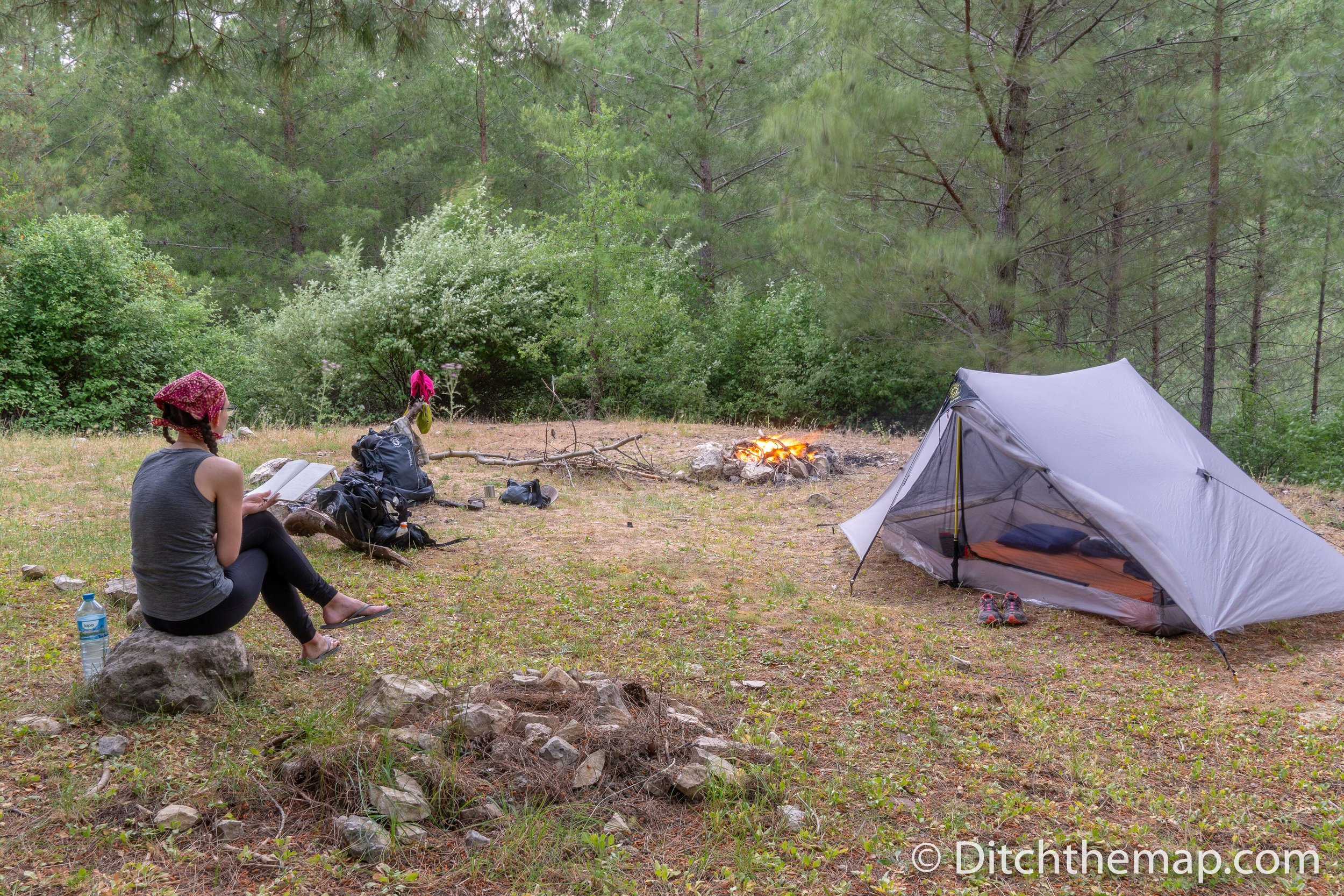 Resting at our campsite on the Lycian Way