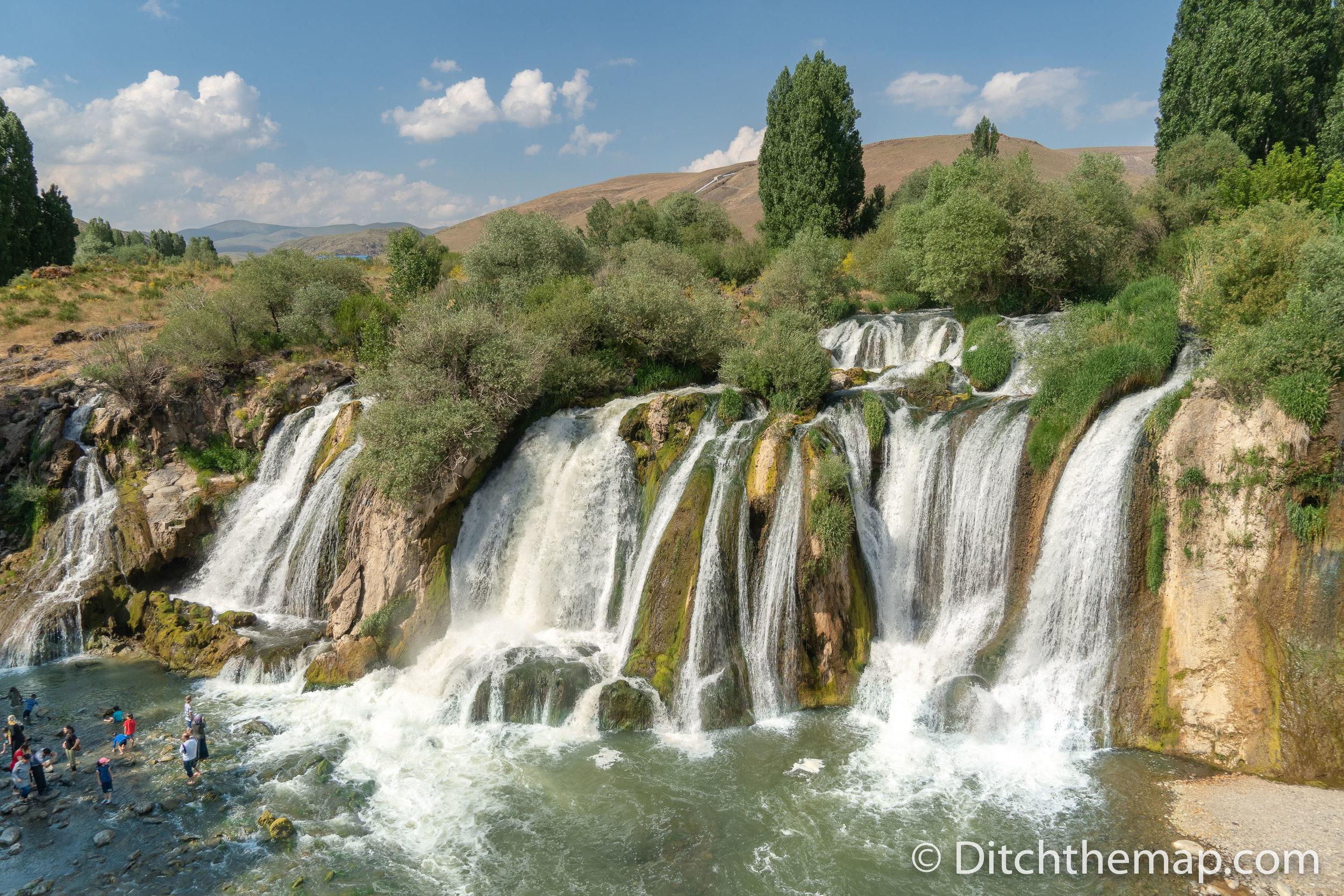 Muradiye Selalesi Waterfall 20 miles from the Iran Border near Van, Turkey