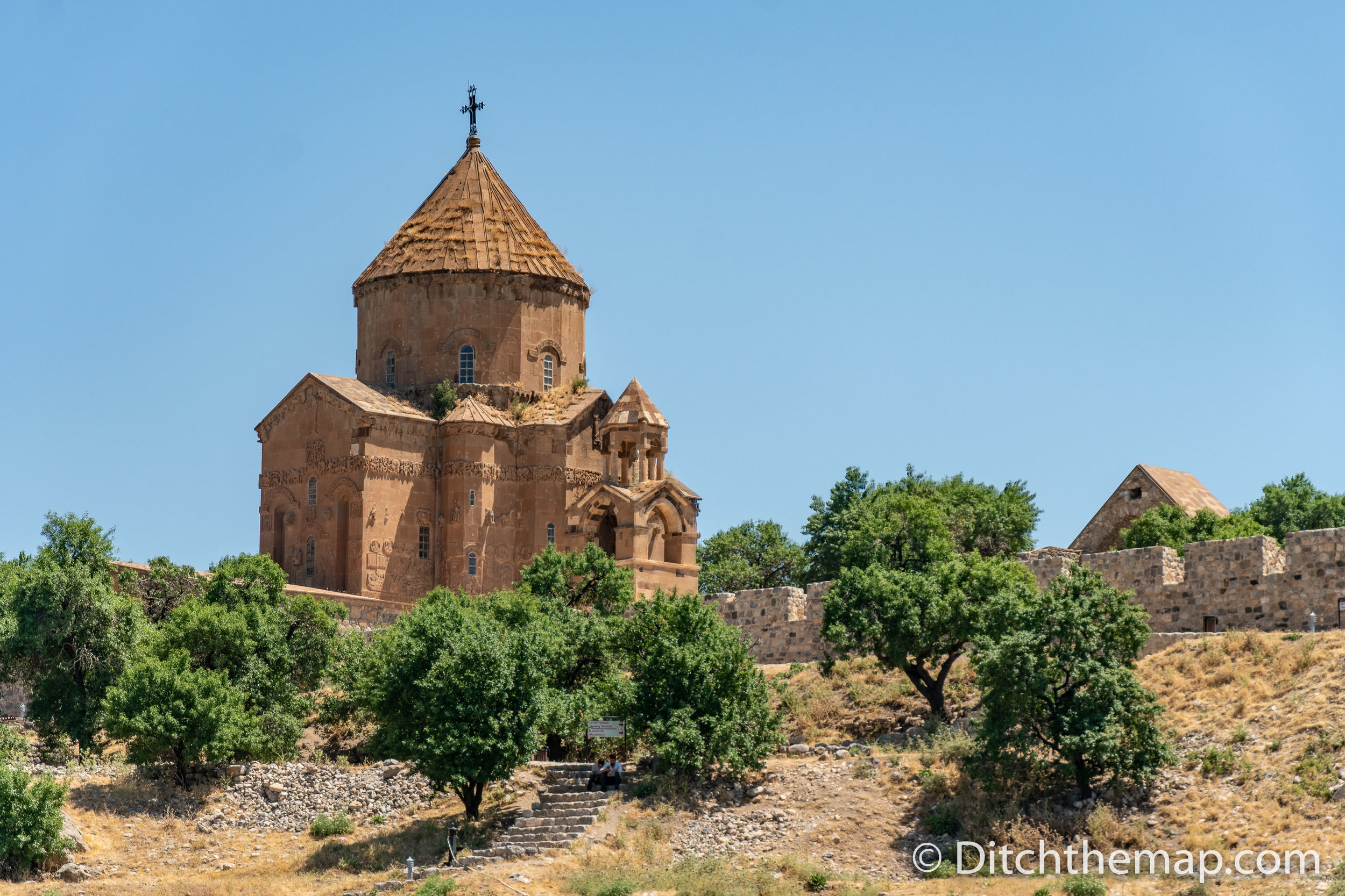 Visiting Cathedral of the Holy Cross, Aghtamar in Van, Turkey