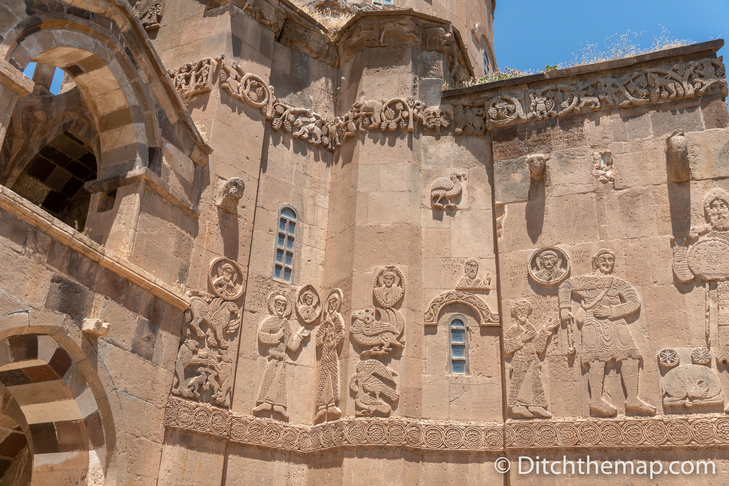 The OUtside of Cathedral of the Holy Cross, Aghtamar in Van, Turkey