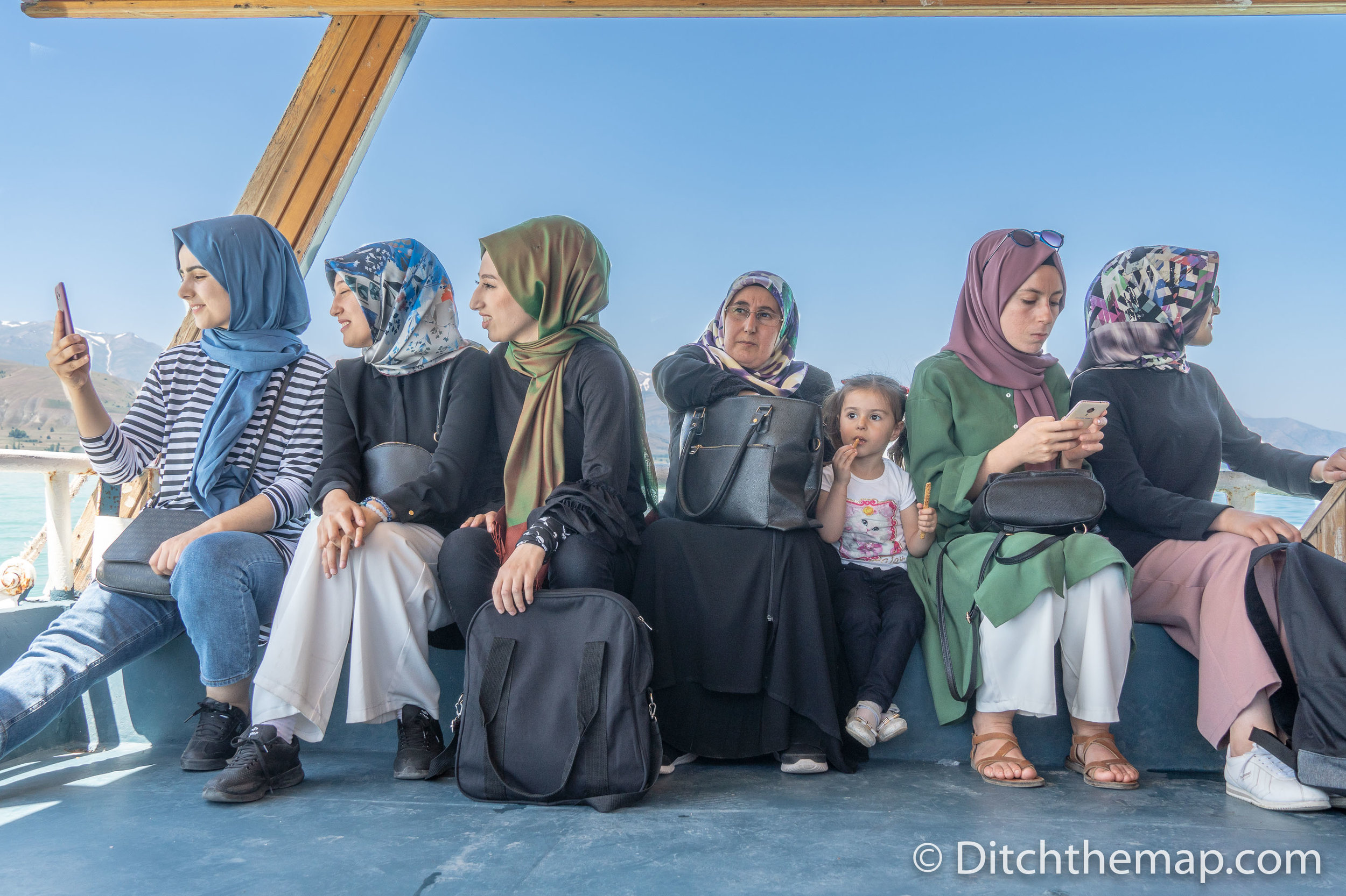 Women Waiting on Ferry to Akdamar Island