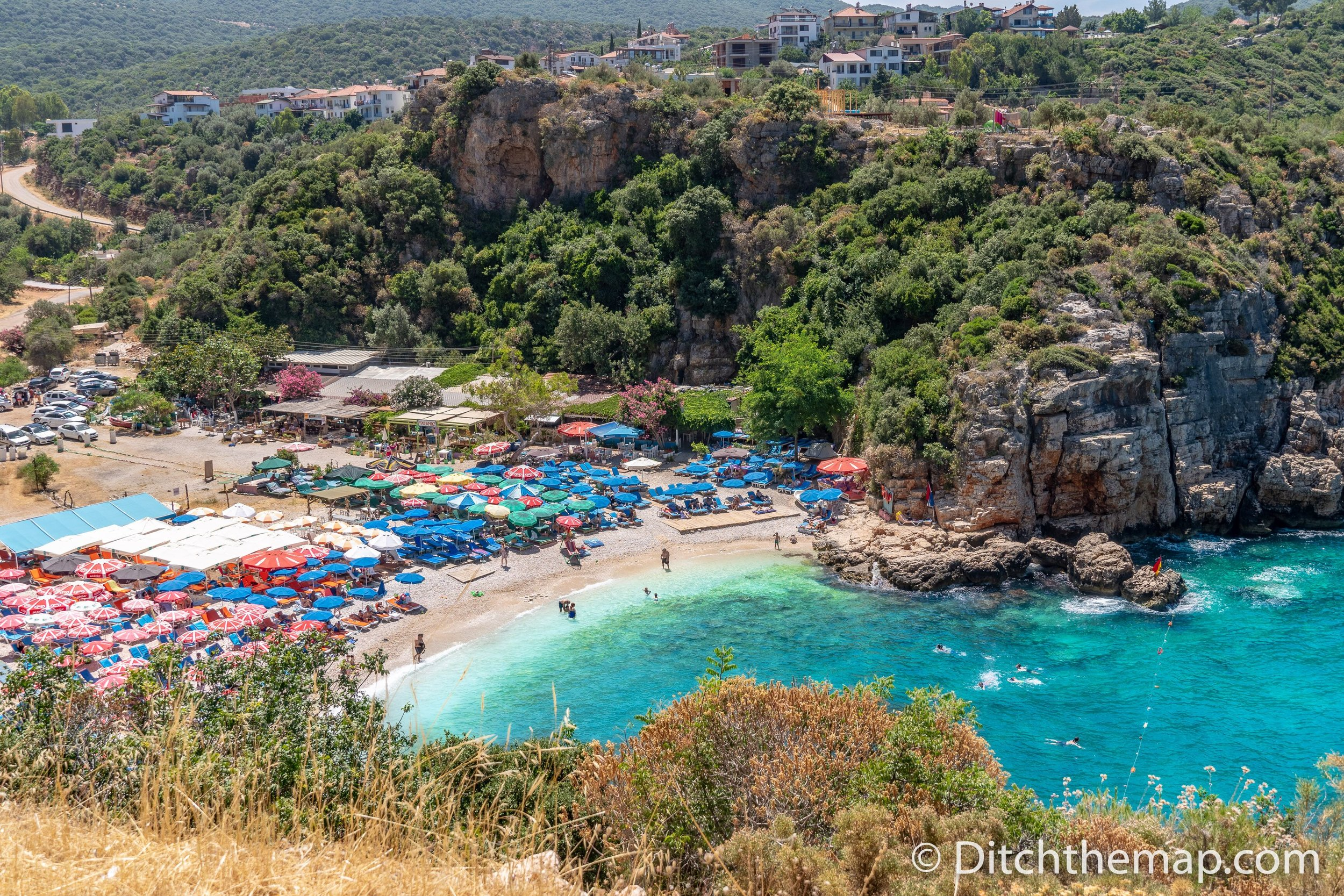 Big pebble beach Kas Turkey