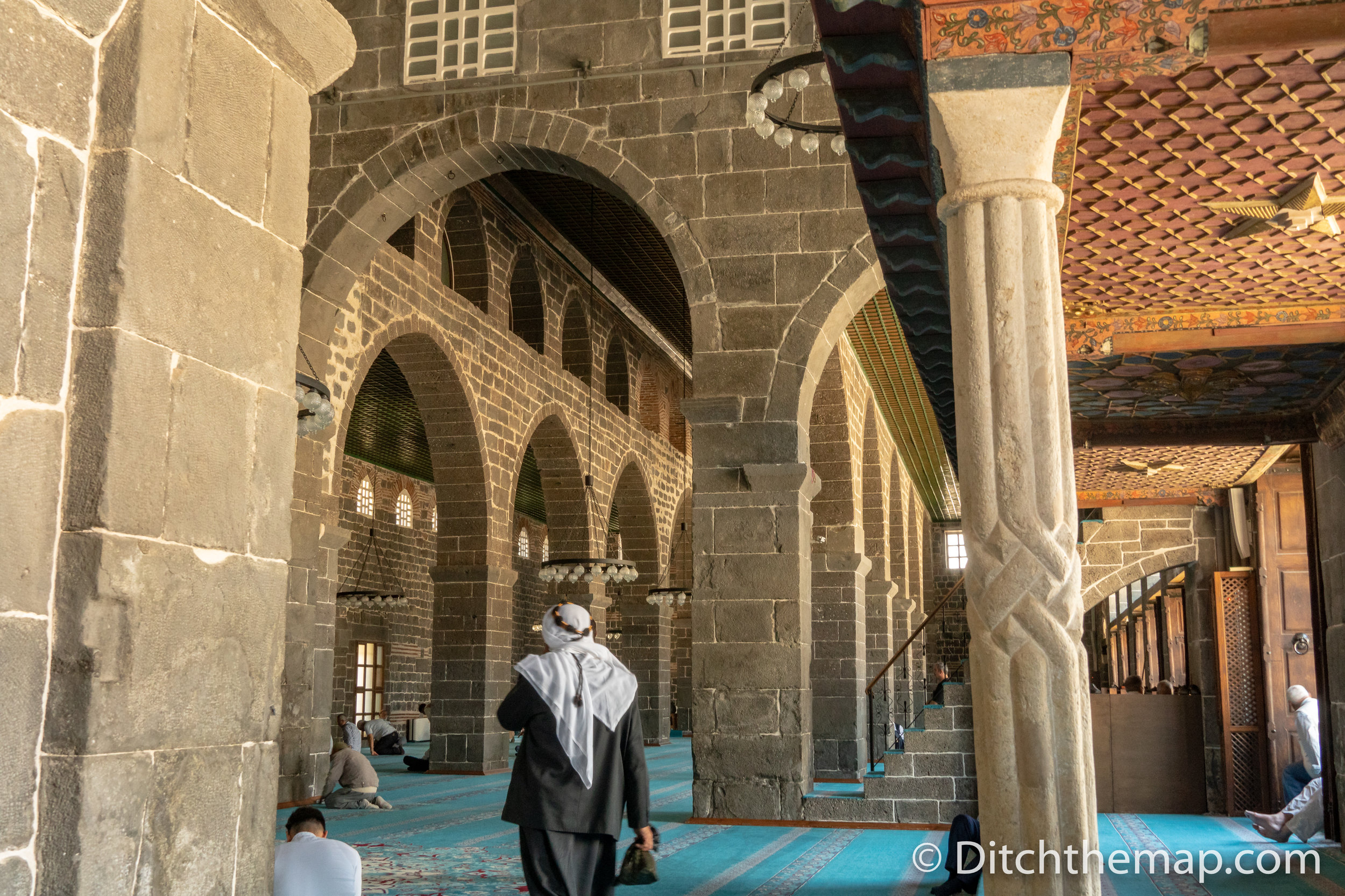 Inside Ulu Mosque in Diyarbakir
