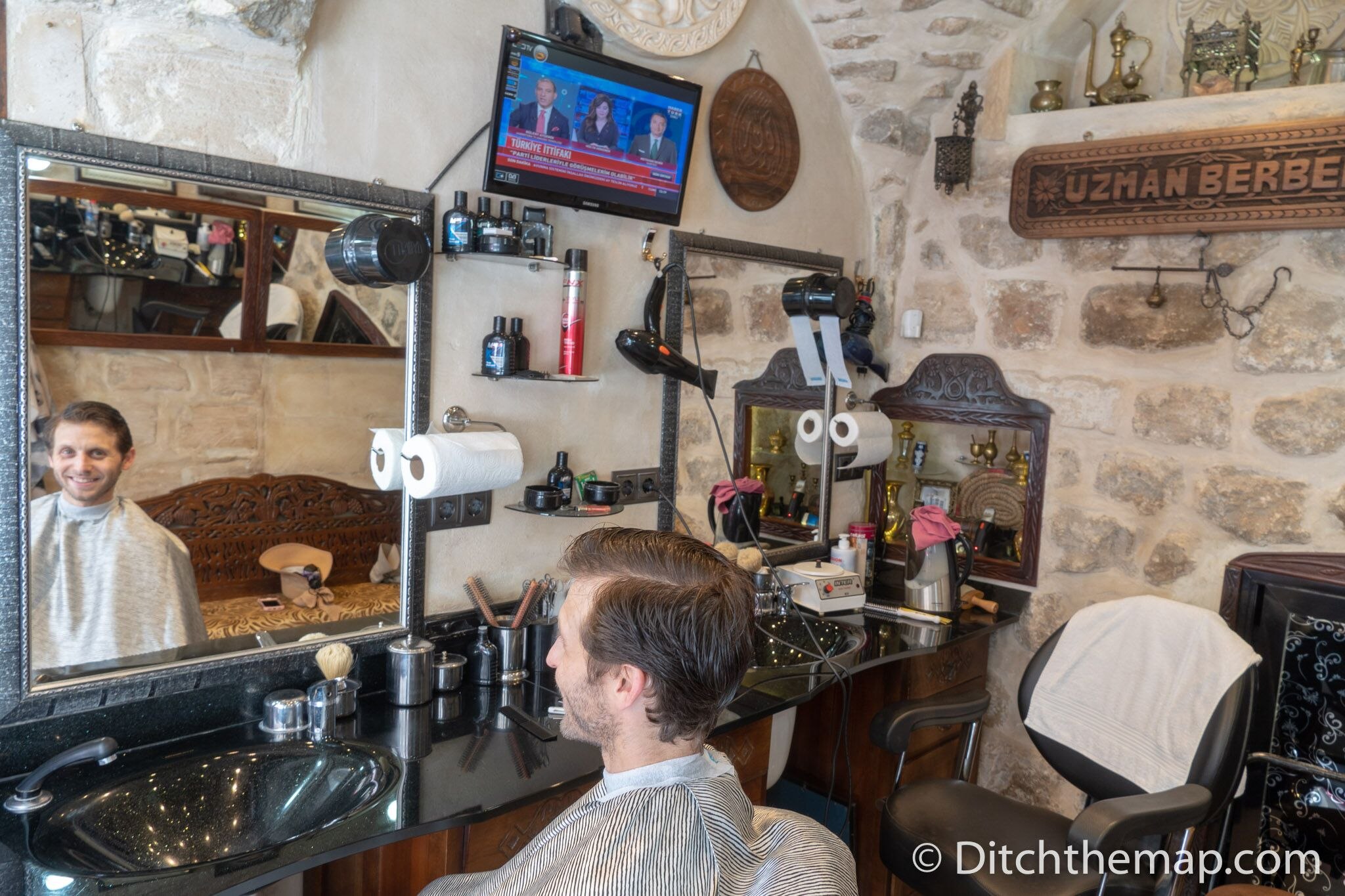 Scott gets a   Turkish haircut   and close shave in Mardin
