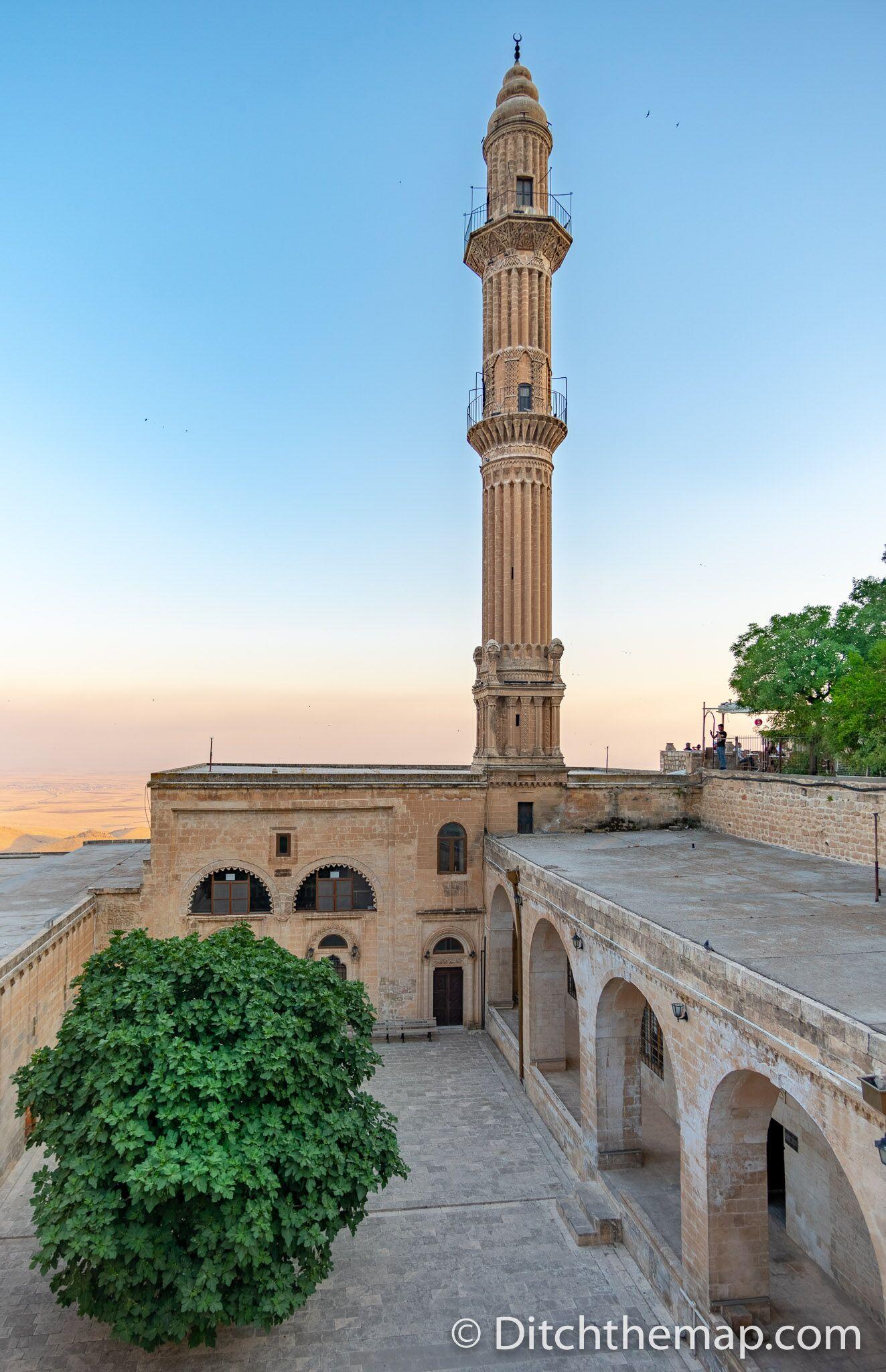 A minaret in Mardin, Turkey
