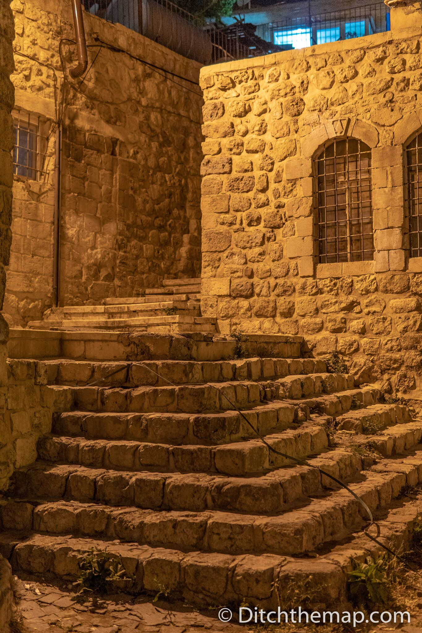 Stone stairs and alley in Mardin, Turkey