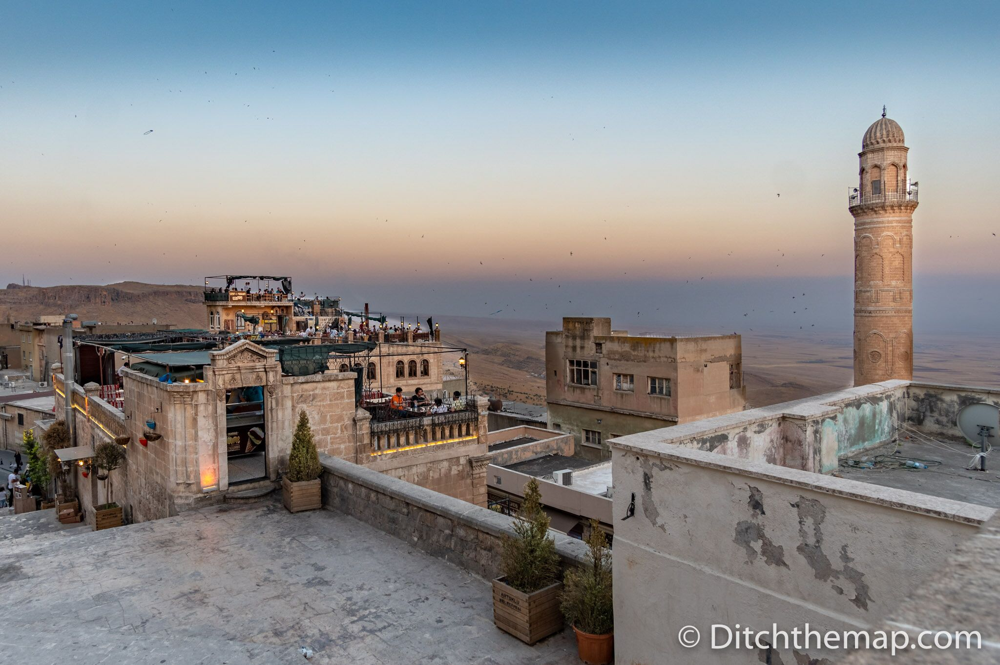 A view of Mardin, Turkey and the Mesopotamian plains