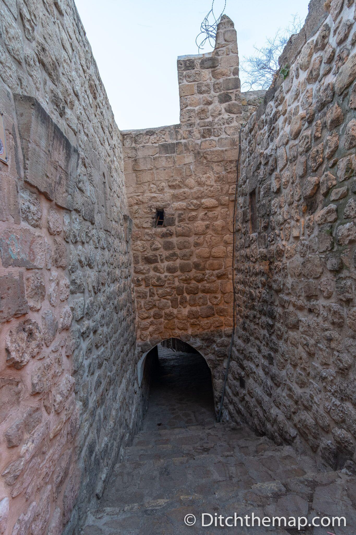 Stone alleyway in Mardin, Turkey
