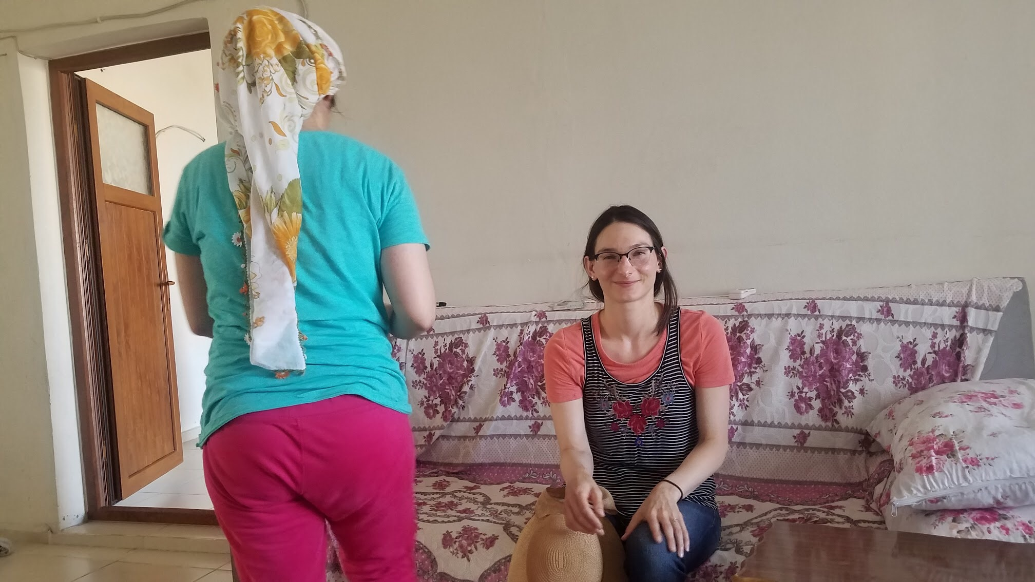 Invited in for tea in a local's home in Mardin