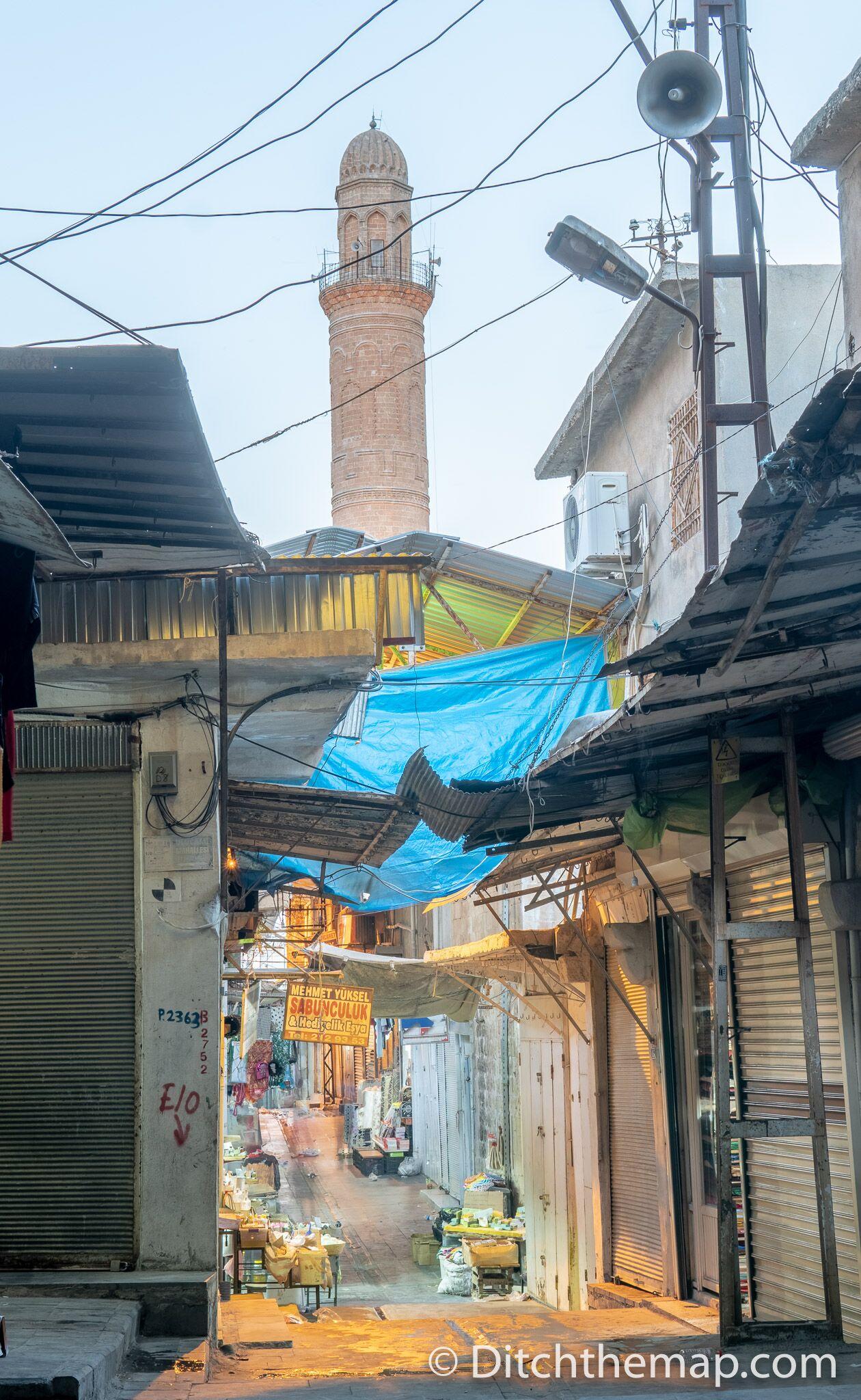 Shopping alley in Mardin, Turkey