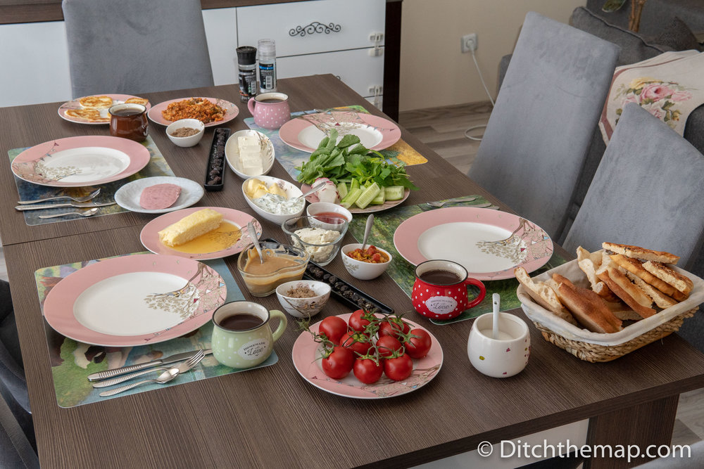 A Breakfast Feast Prepared by our Turkish couchsurfing hosts