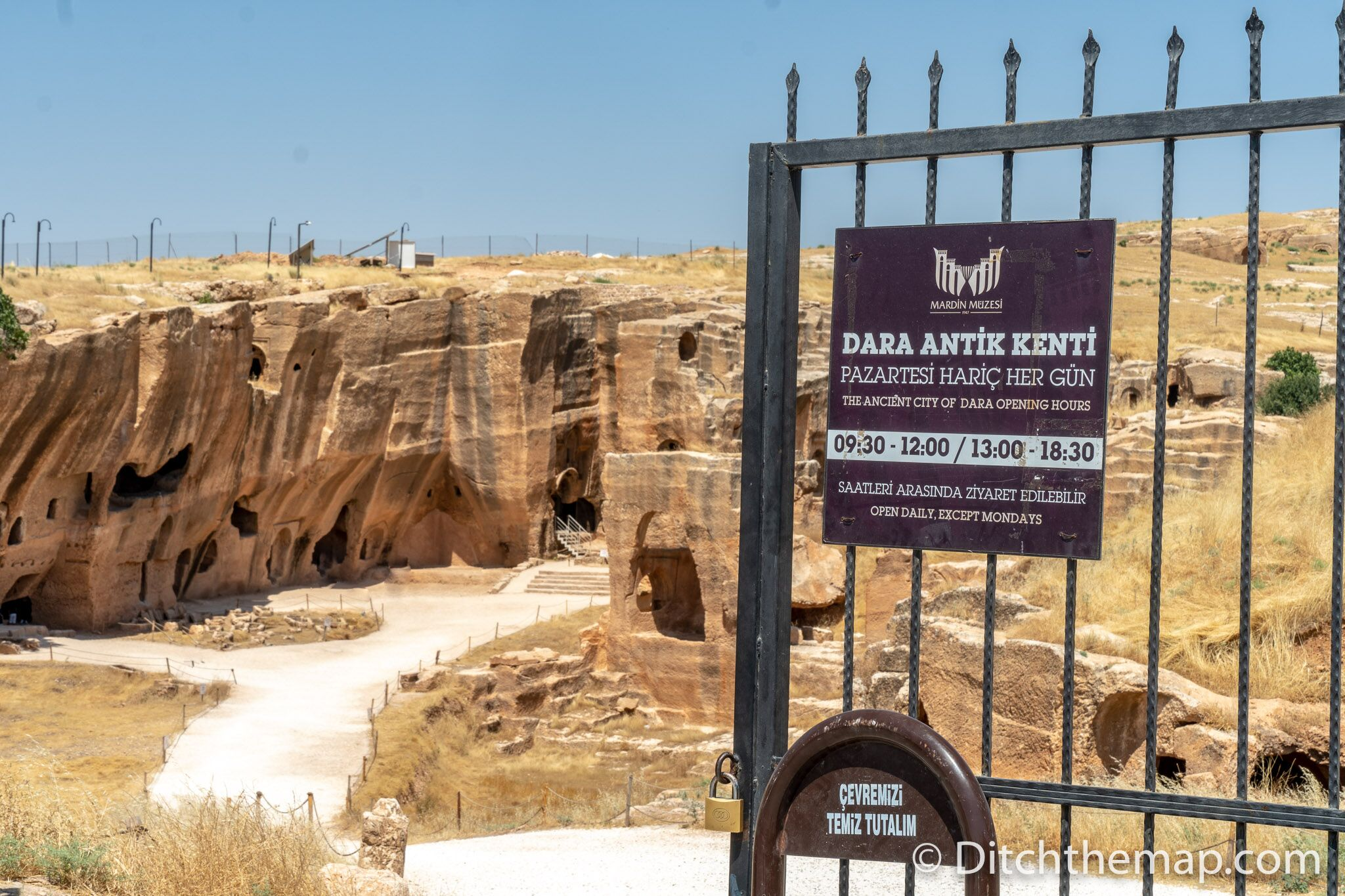 Entrance to Dara Archeological Site in Turkey