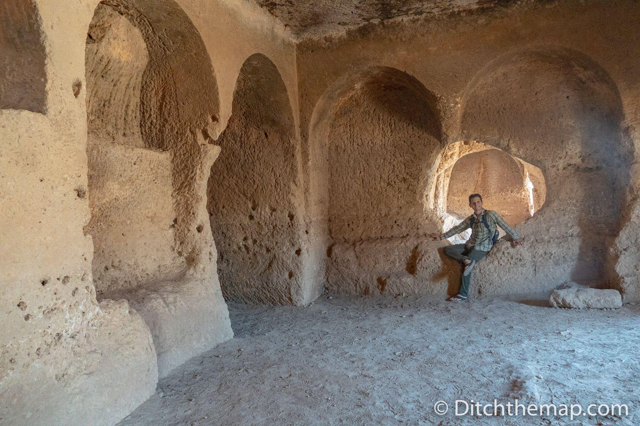 Rock tombs in Dara, Turkey