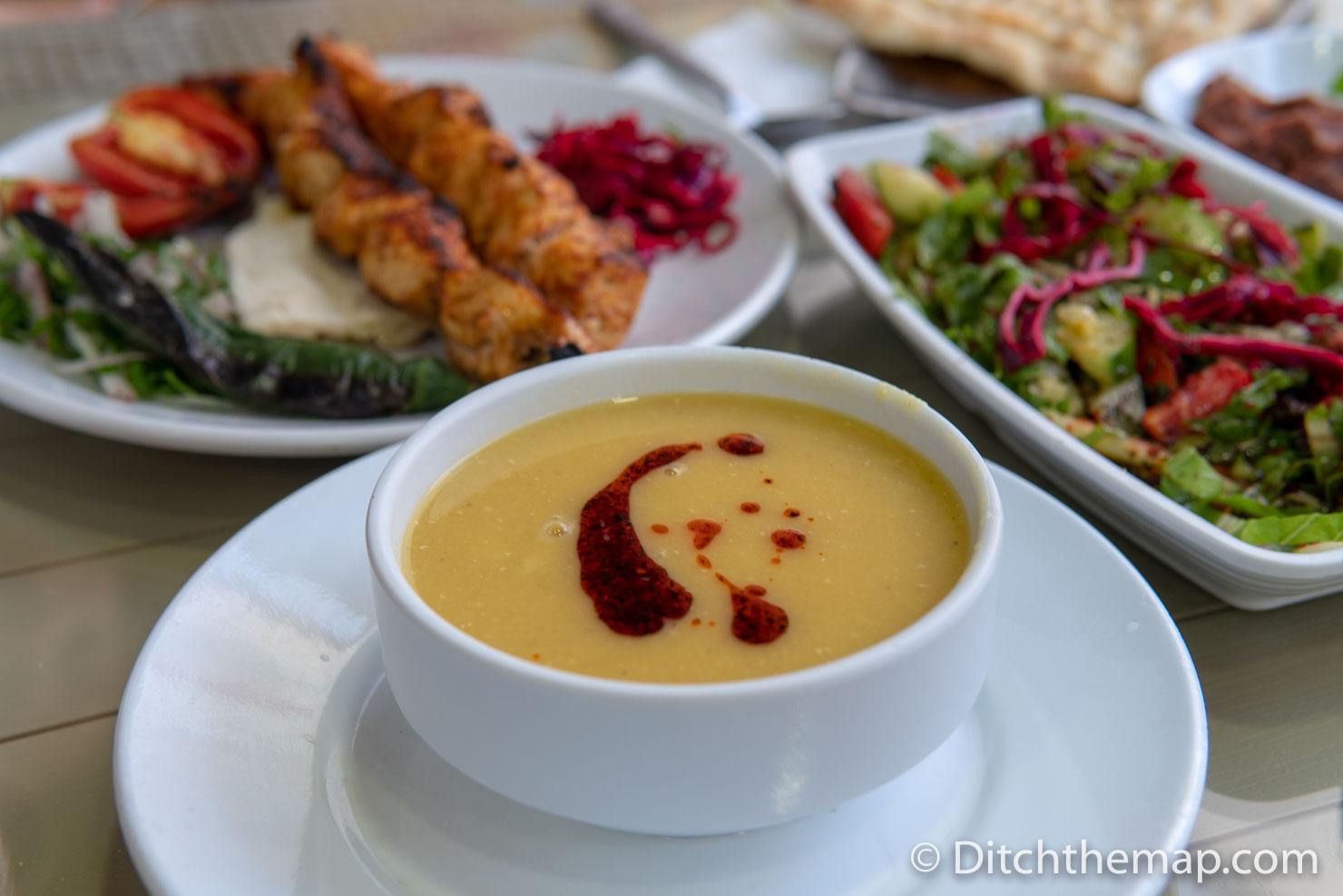 Turkish food dinner