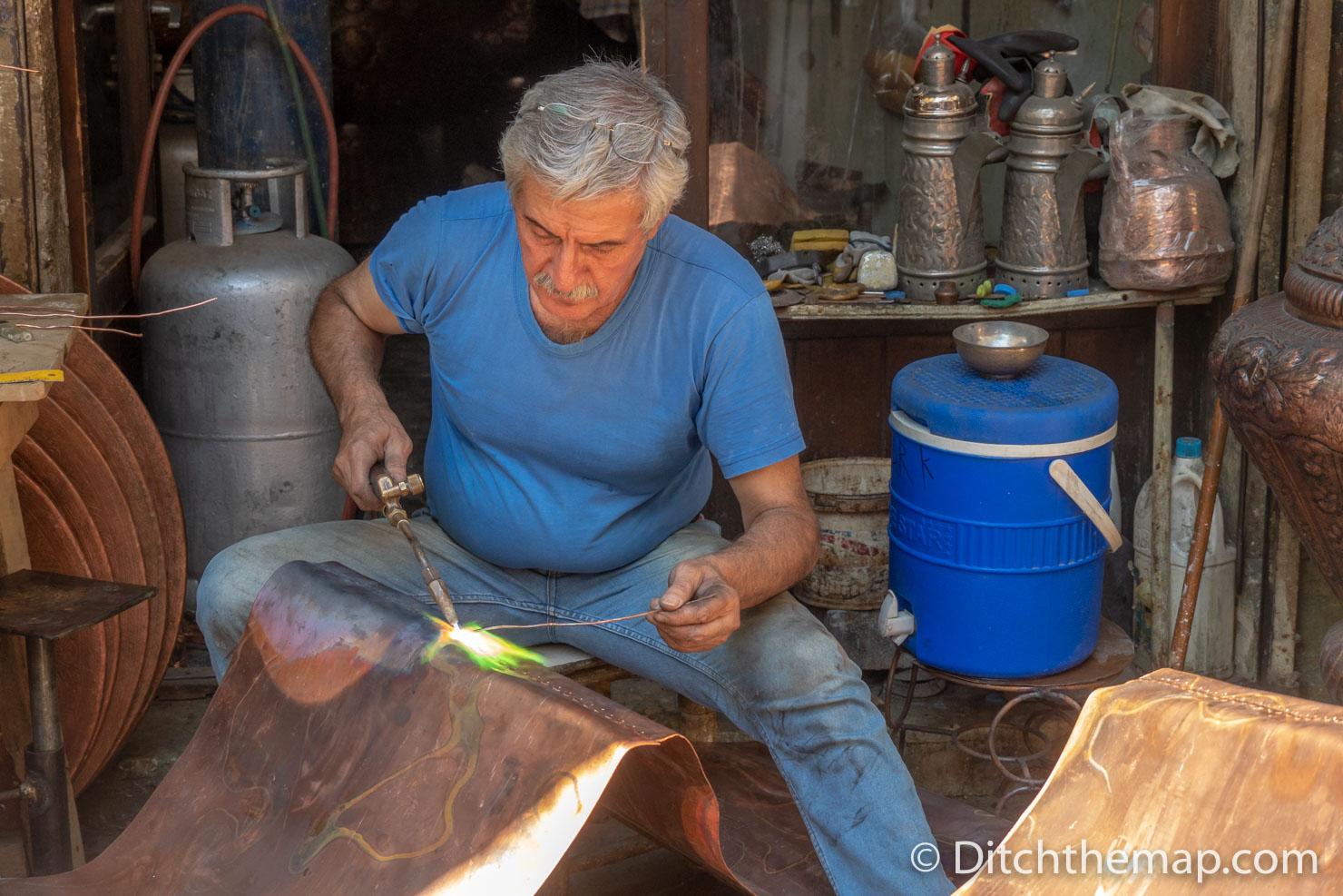 Man Welding Sheet metal
