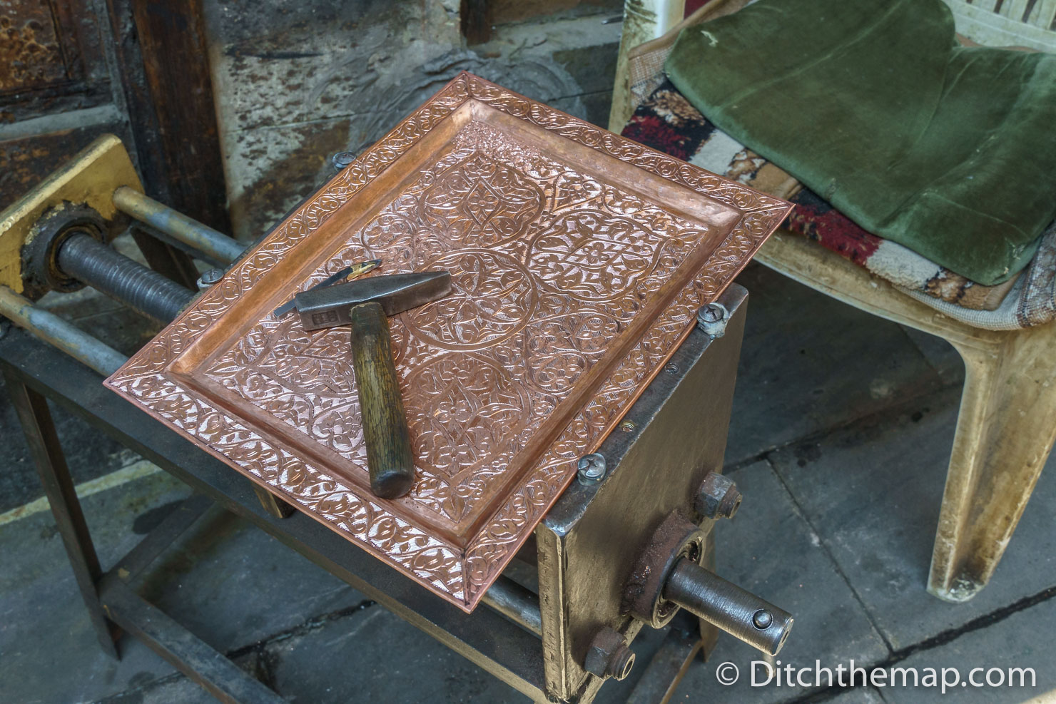 Engraved Copper Plate