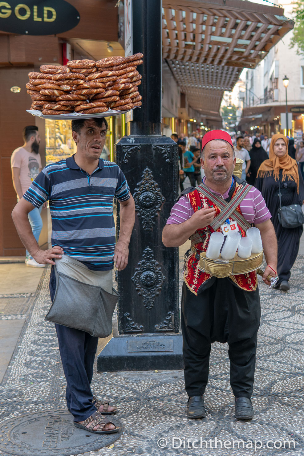 Men Selling Meyan Şerbeti and Simits on the Street