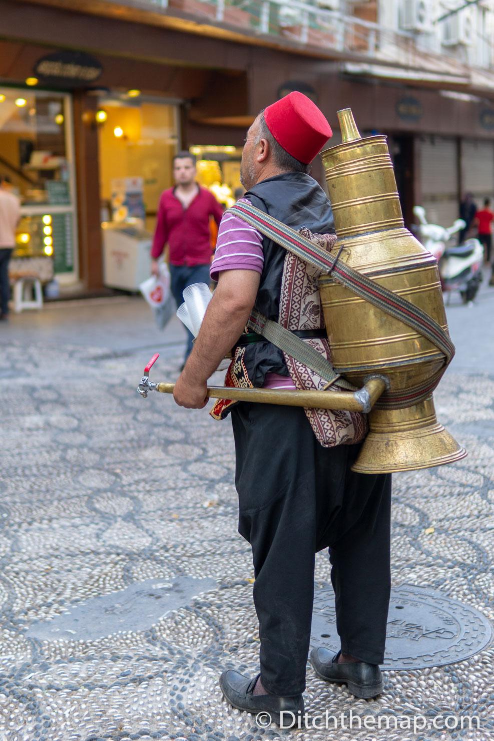 Man Selling Meyan Şerbeti near Bazaar