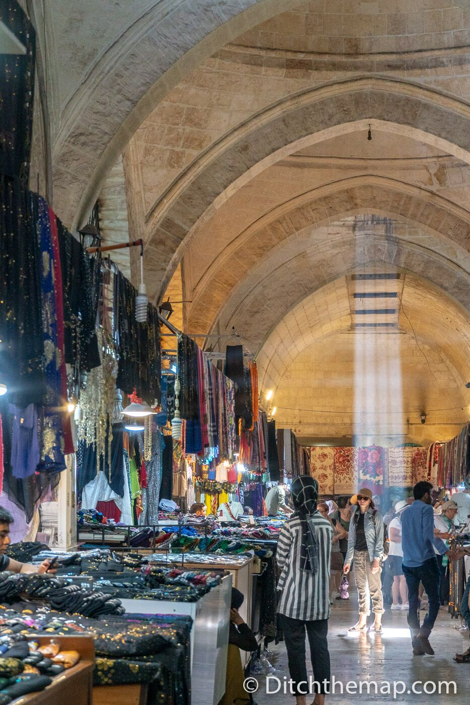 Venders inside the Gumruk Bazaar in Sanliurfa, Turkey