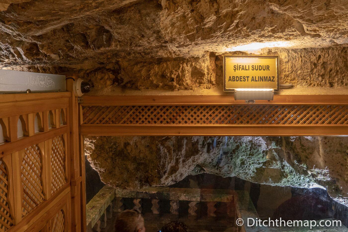 Inside Abraham's cave in Sanliurfa, Turkey