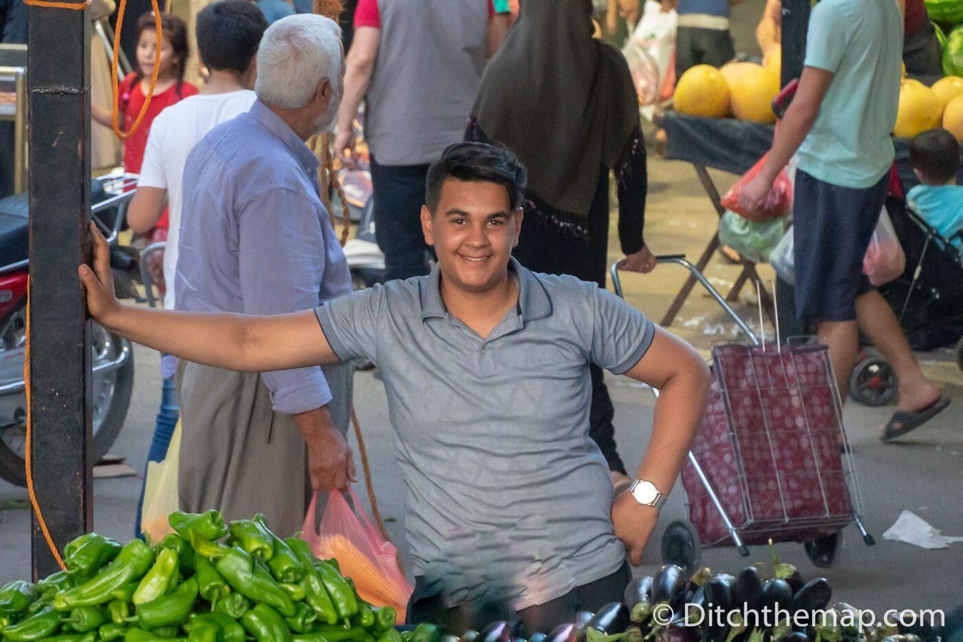 Weekly produce market vegetables fruit Sanliurfa turkey